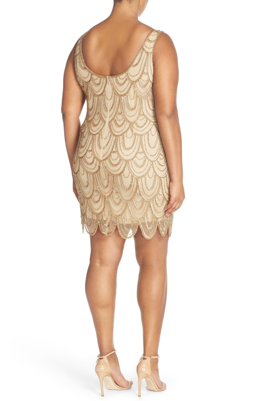 Beaded Sheath Dress,                             Alternate thumbnail 46, color,