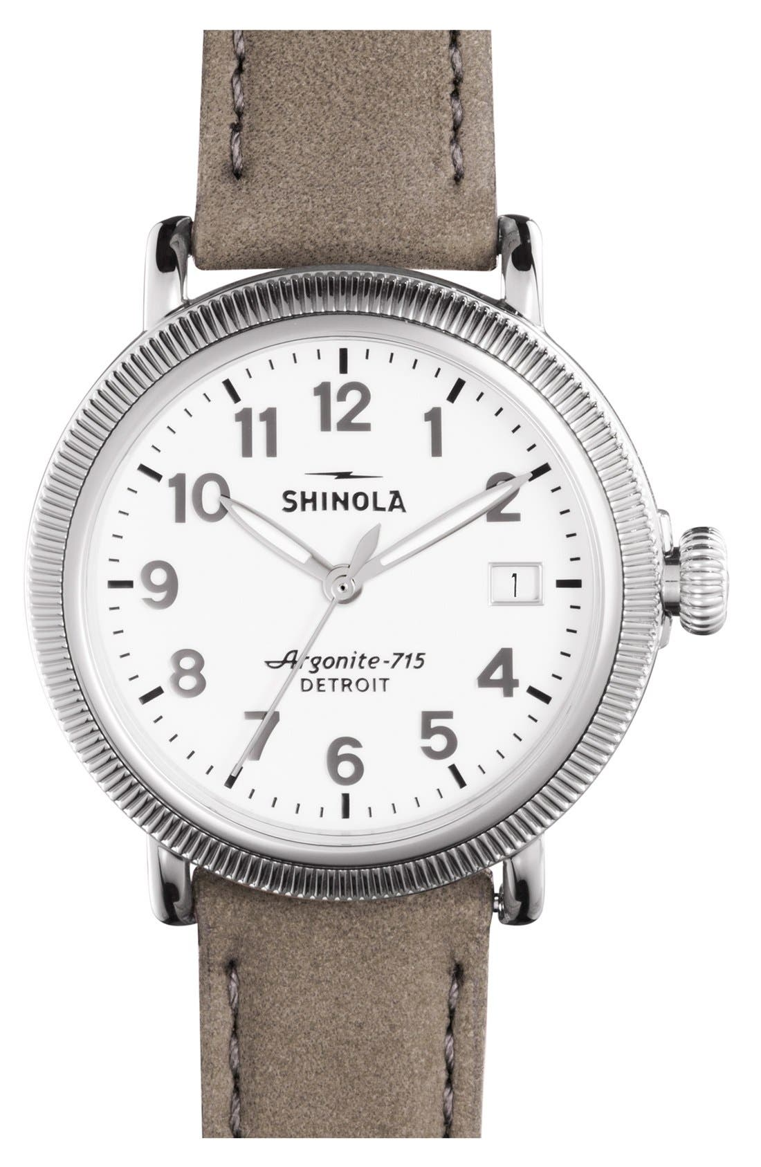 'The Runwell' Leather Strap Watch, 47mm,                             Main thumbnail 5, color,
