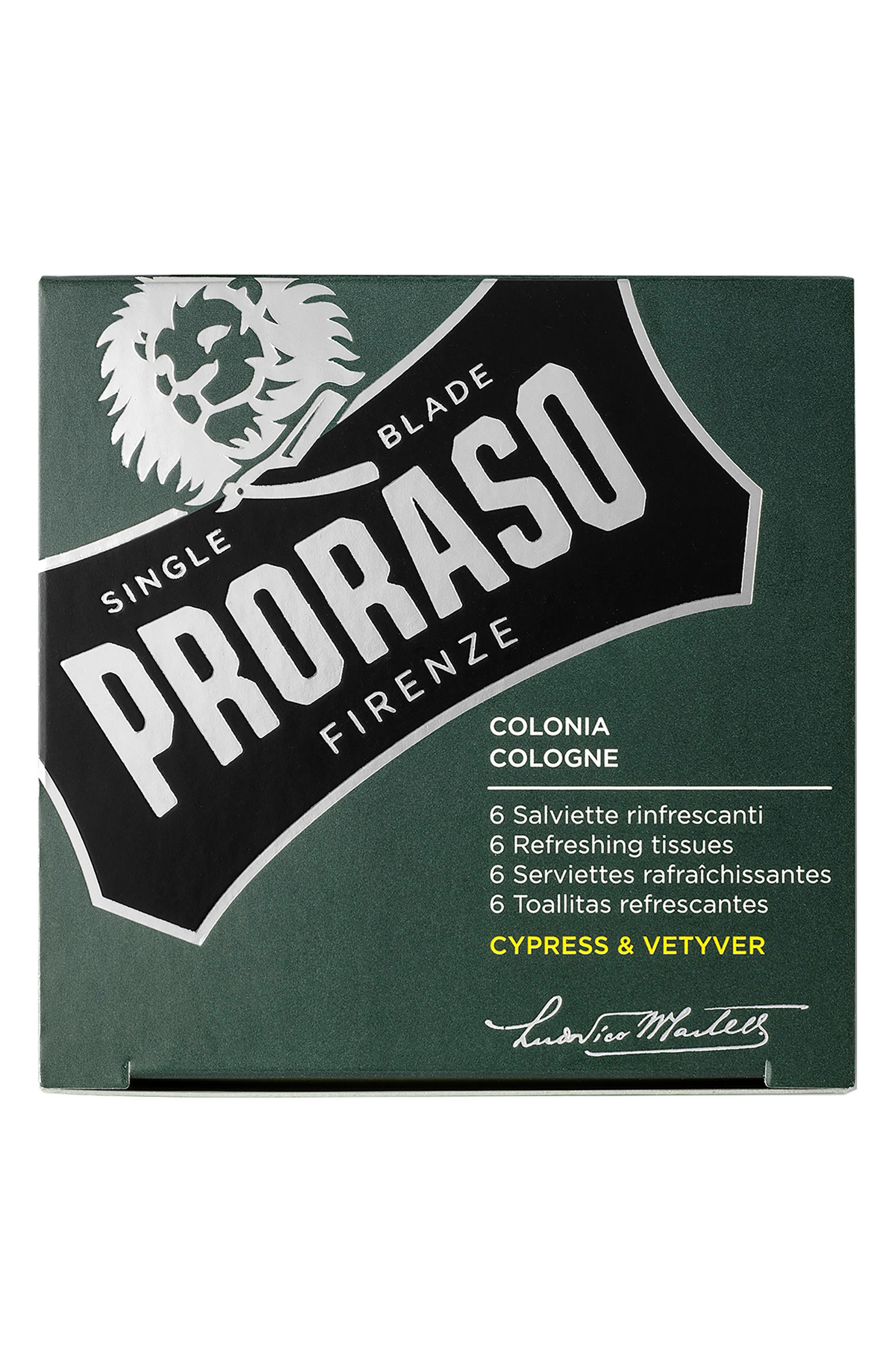 PRORASO,                             Men's Grooming Cypress & Vetyver Refreshing Tissues,                             Alternate thumbnail 3, color,                             NO COLOR