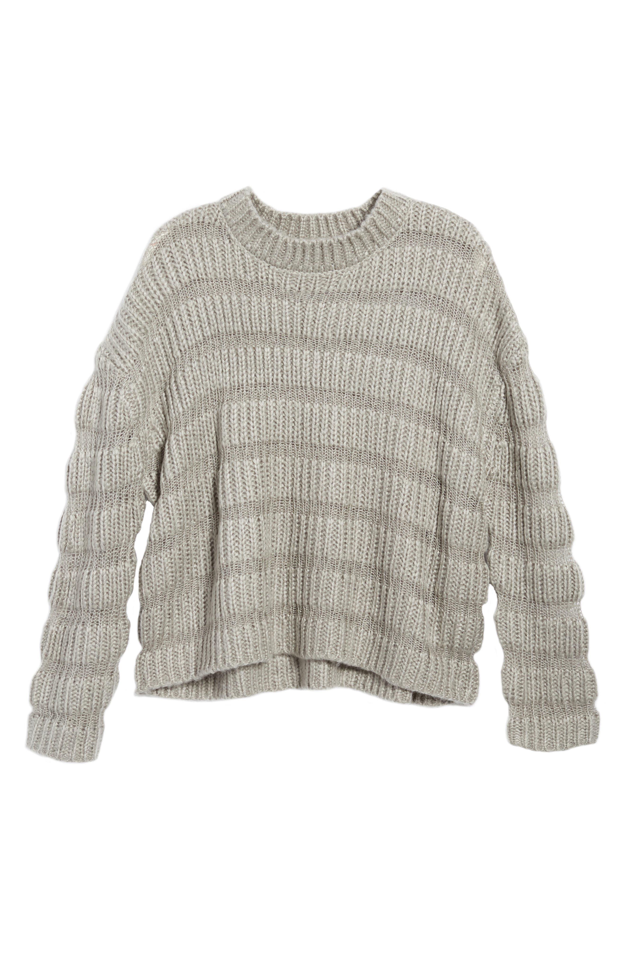 Textured Stripe Crop Sweater,                             Alternate thumbnail 6, color,