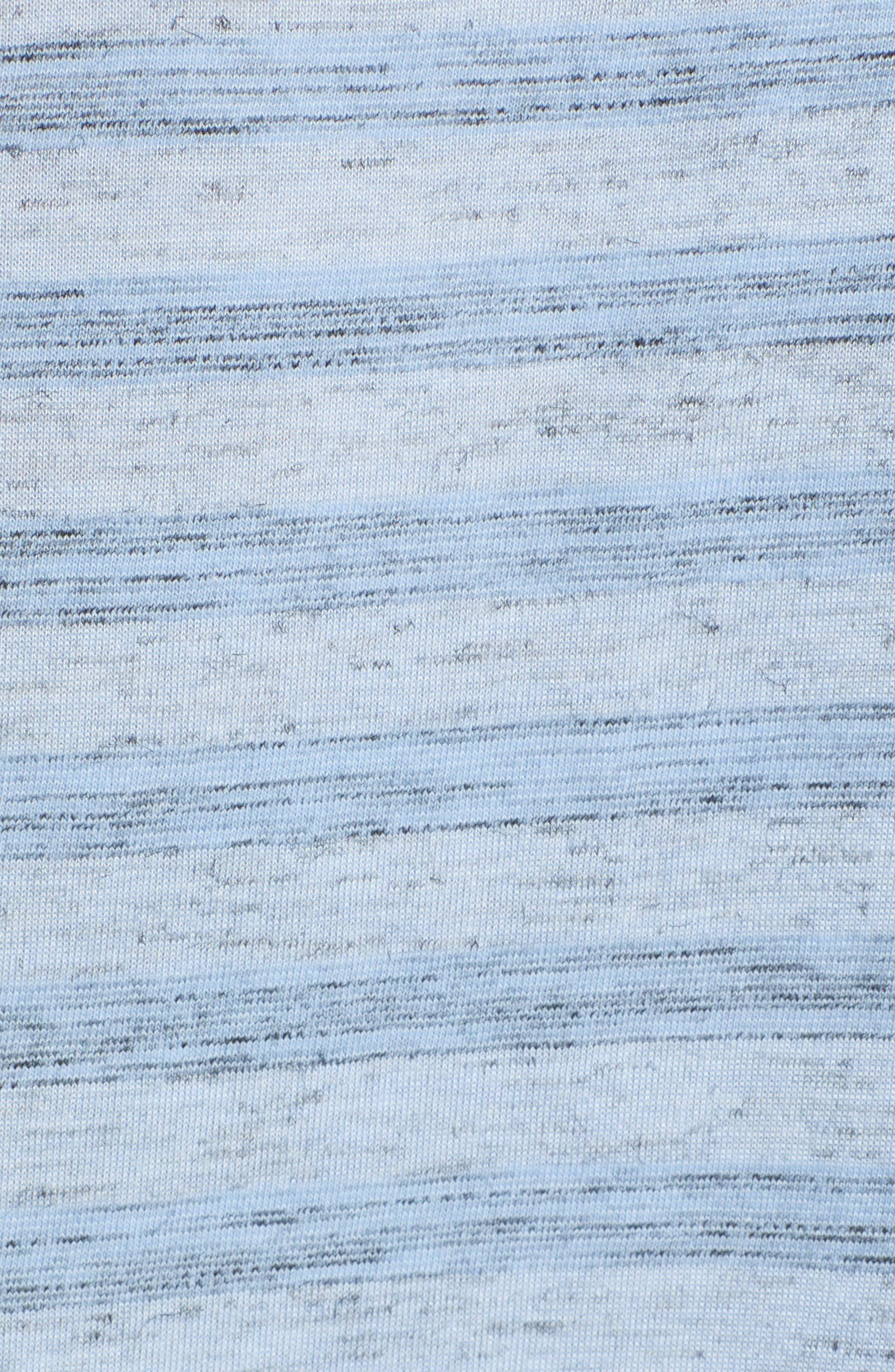 Stripe Split Neck Tee,                             Alternate thumbnail 6, color,                             BLUE