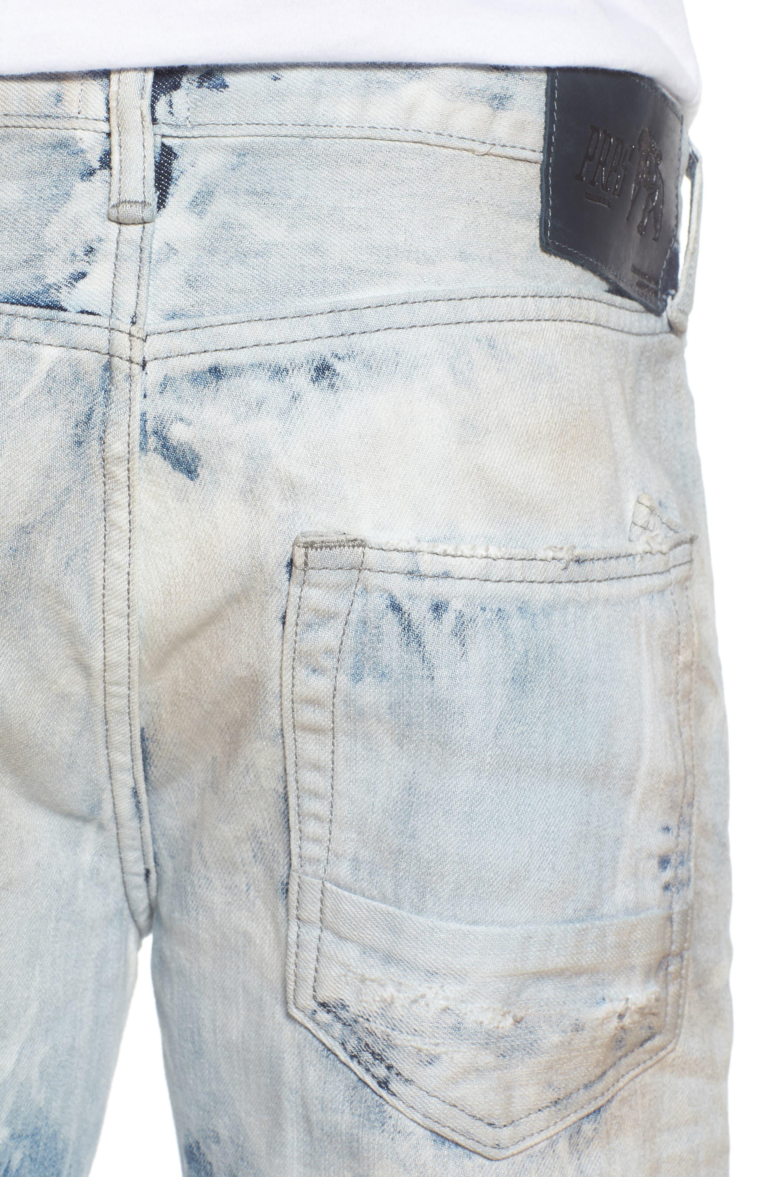 Demon Slim Straight Leg Jeans,                             Alternate thumbnail 4, color,                             COZY LIGHT WASH