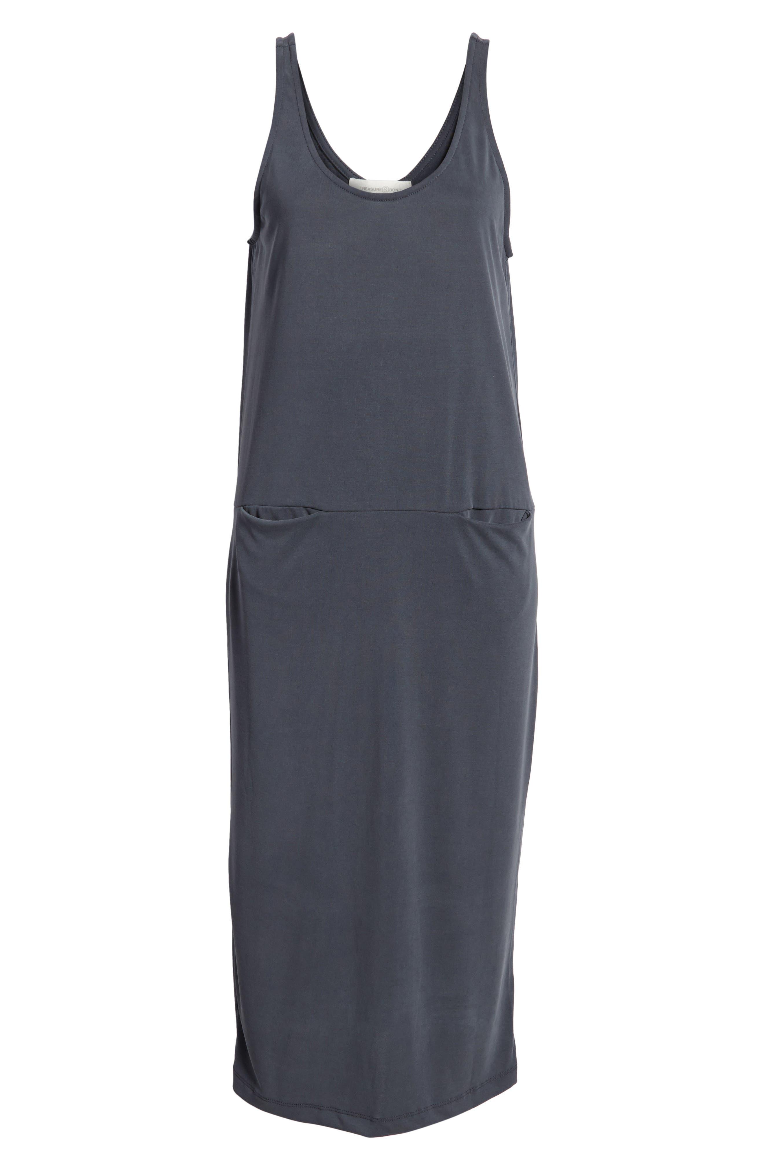 Tank Midi Dress,                             Alternate thumbnail 7, color,                             030