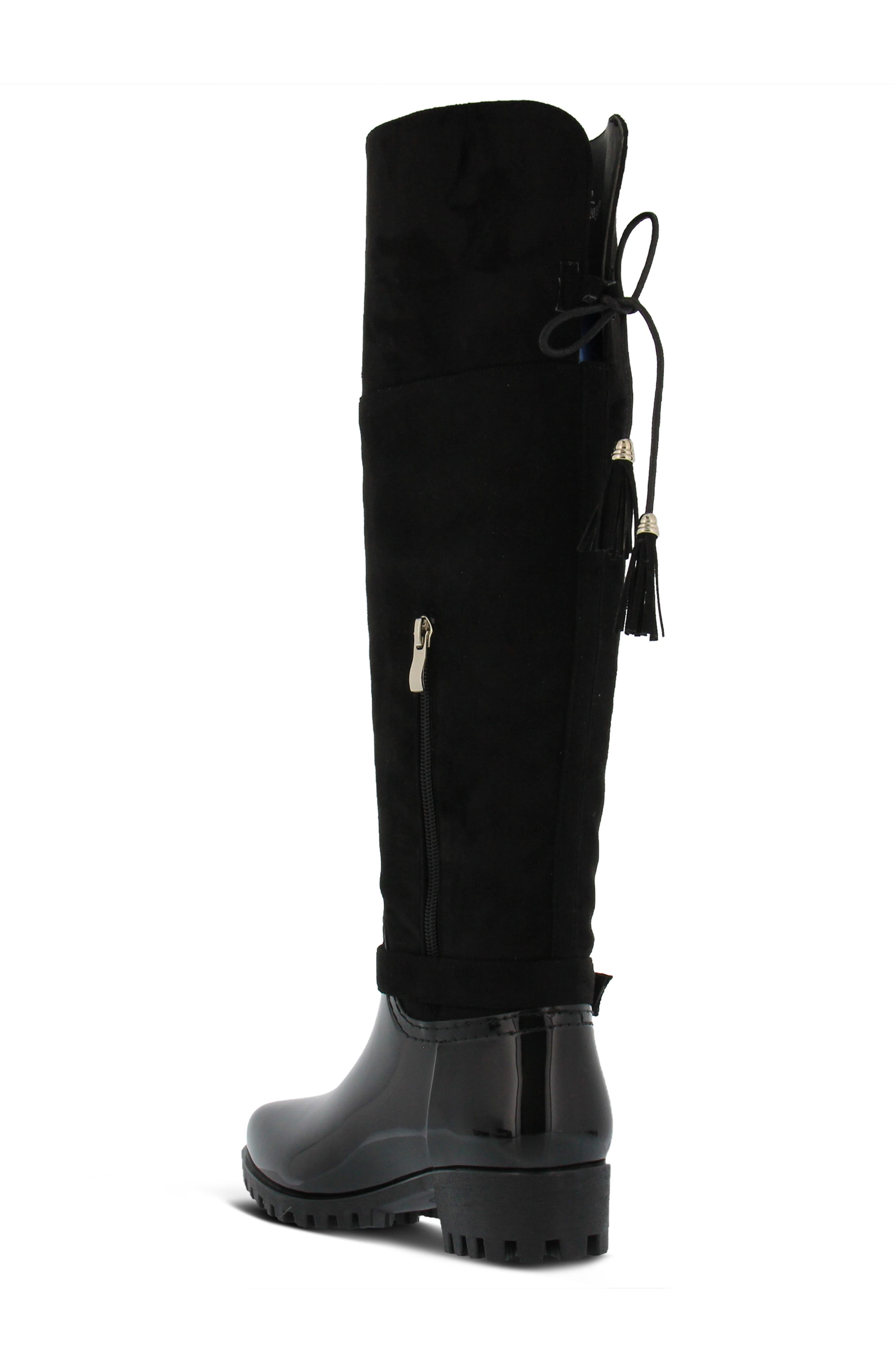 Mattie Over the Knee Waterproof Boot,                             Alternate thumbnail 2, color,                             BLACK