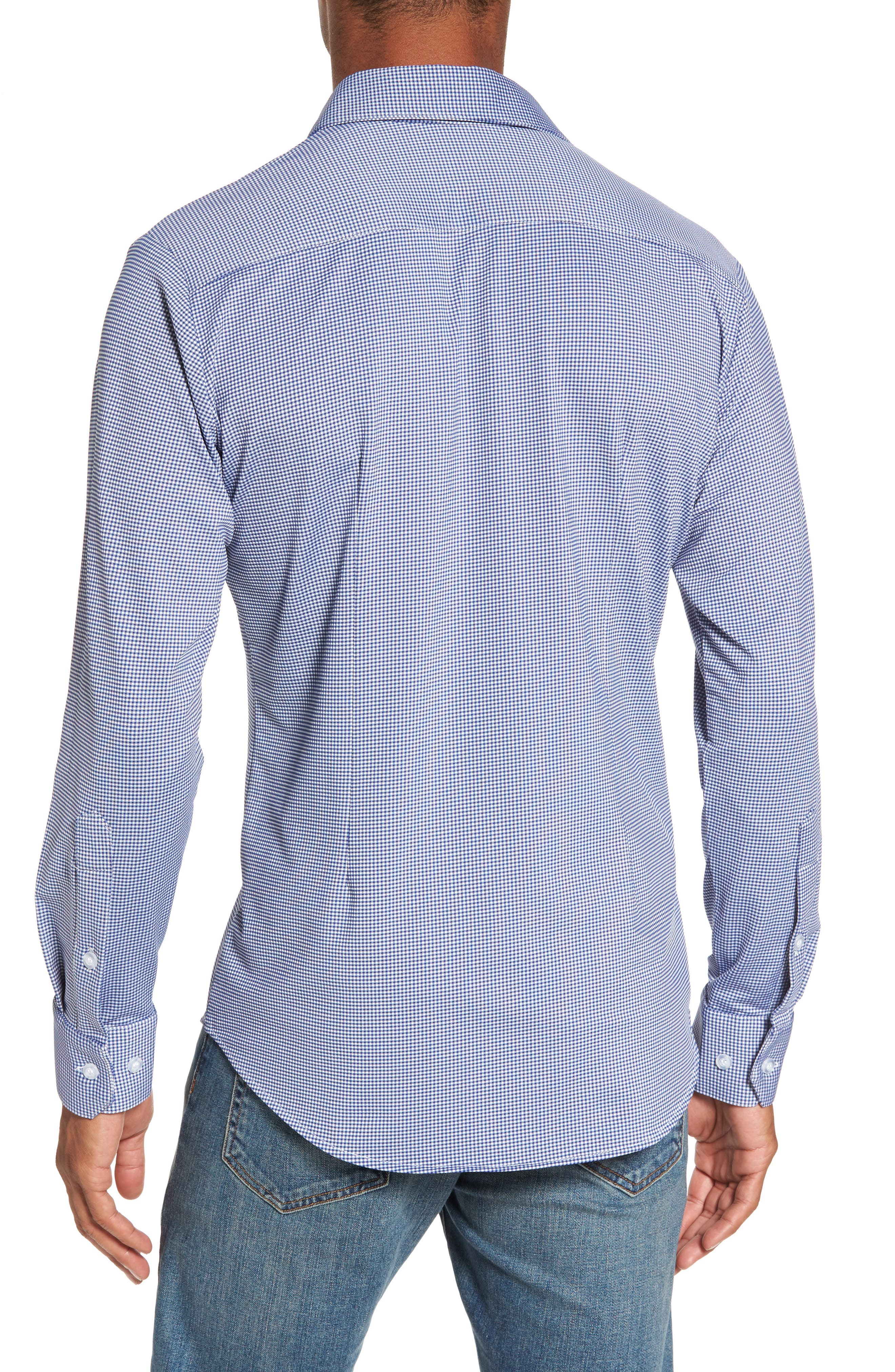 Beckett Gingham Sport Shirt,                             Alternate thumbnail 2, color,                             BLUE