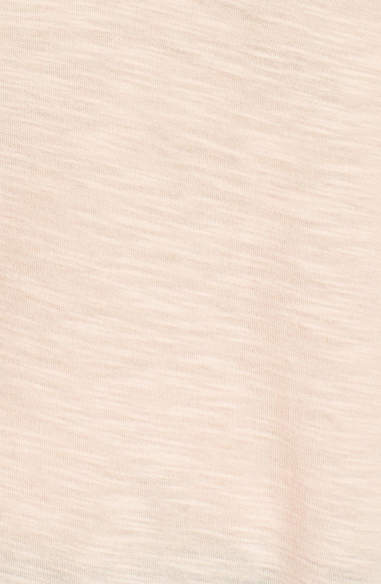 Ruffle Sleeve Mixed Media Top,                             Alternate thumbnail 6, color,                             885