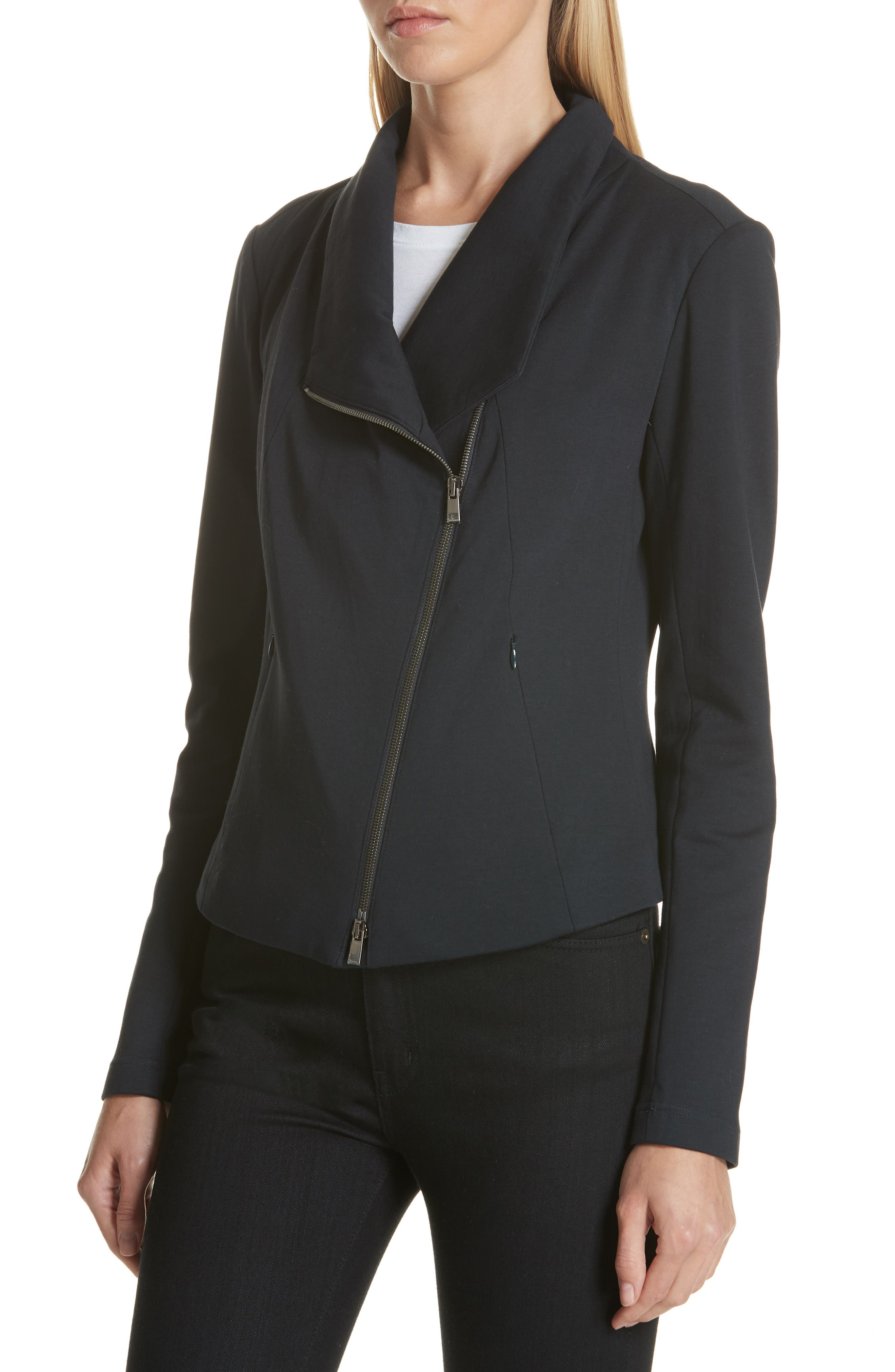 High Collar Fitted Jacket,                             Alternate thumbnail 4, color,                             410