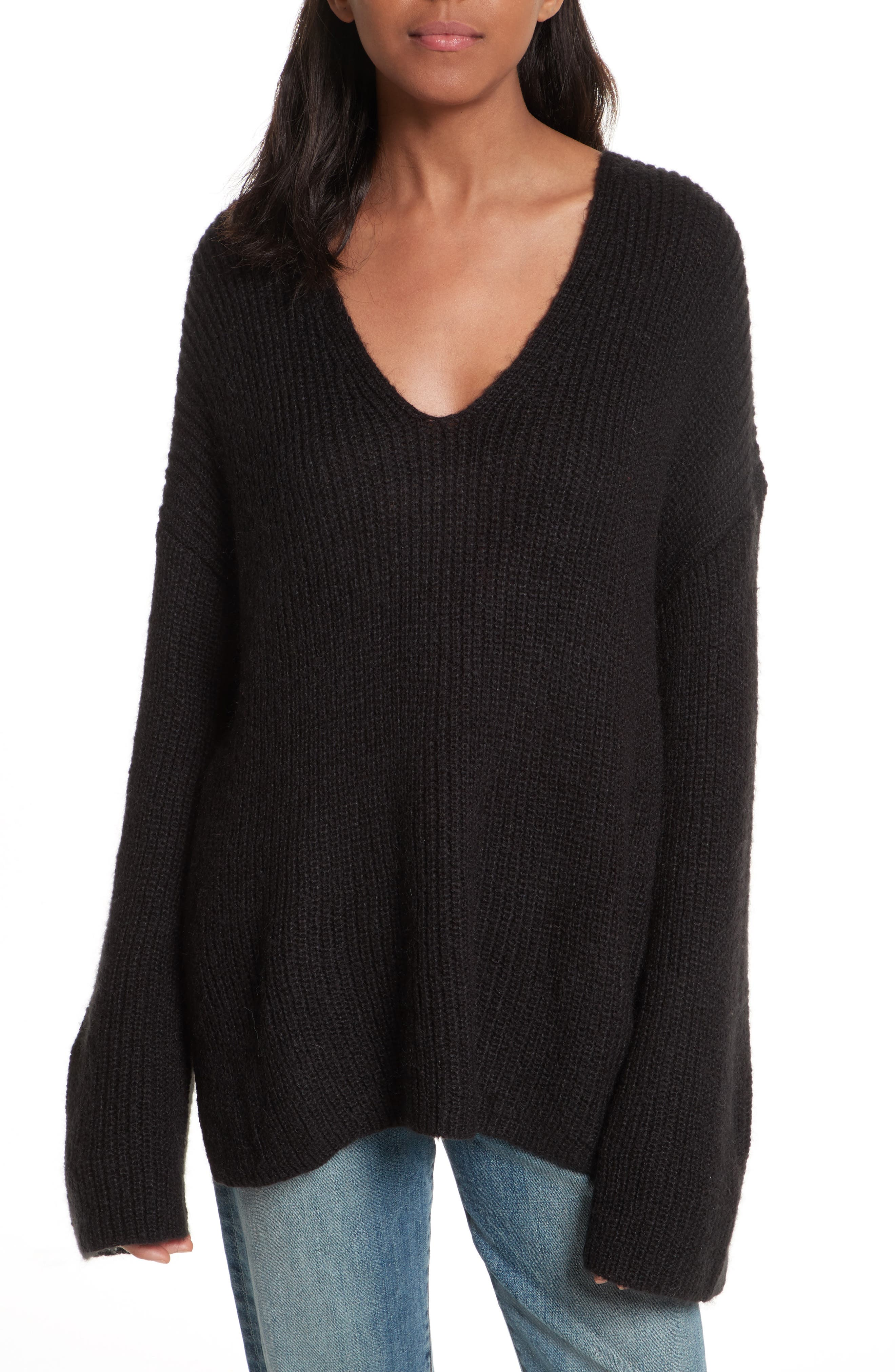 Remi Oversize Sweater,                             Main thumbnail 1, color,                             001