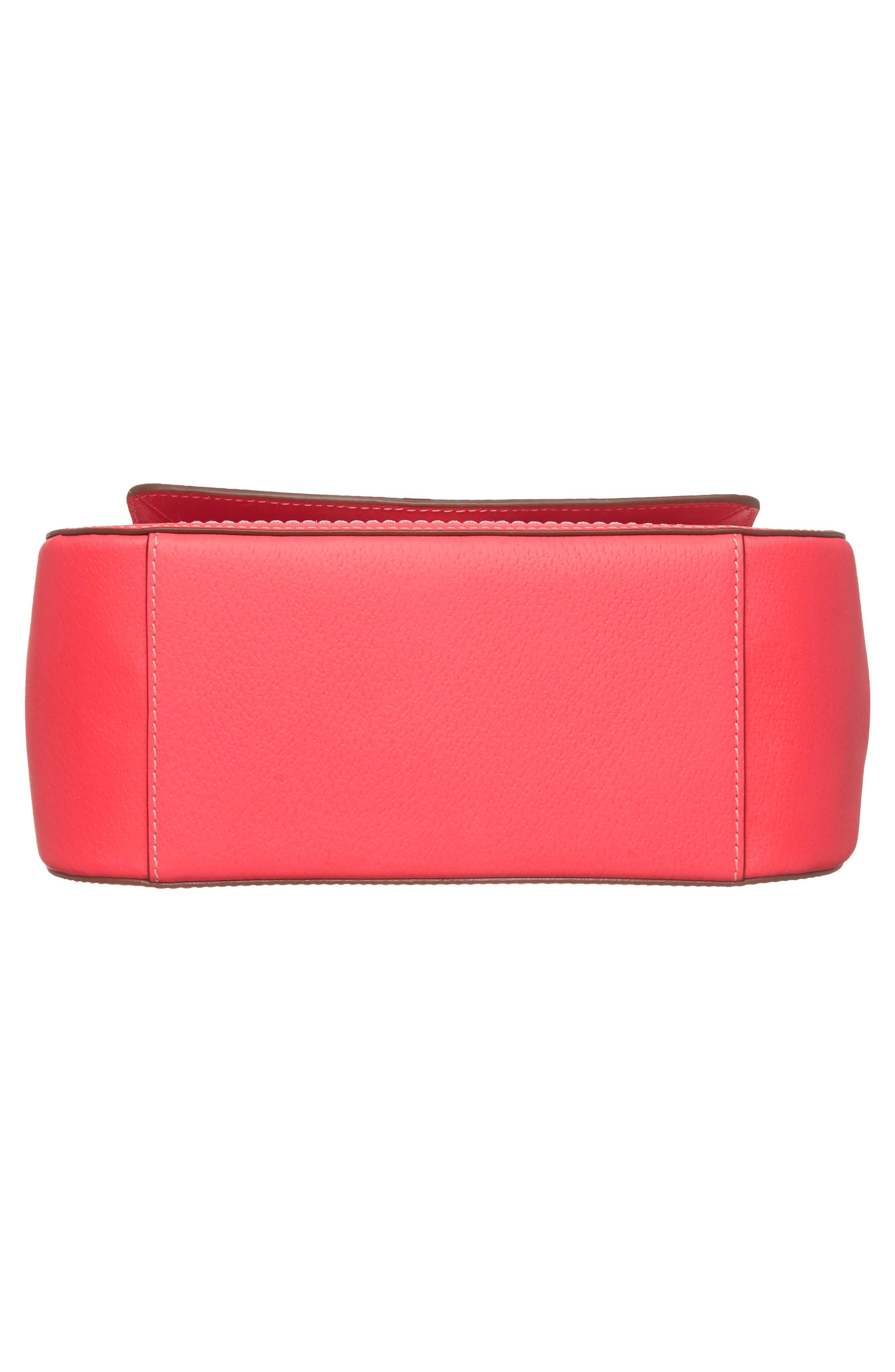 thompson street - justina leather satchel,                             Alternate thumbnail 6, color,                             650