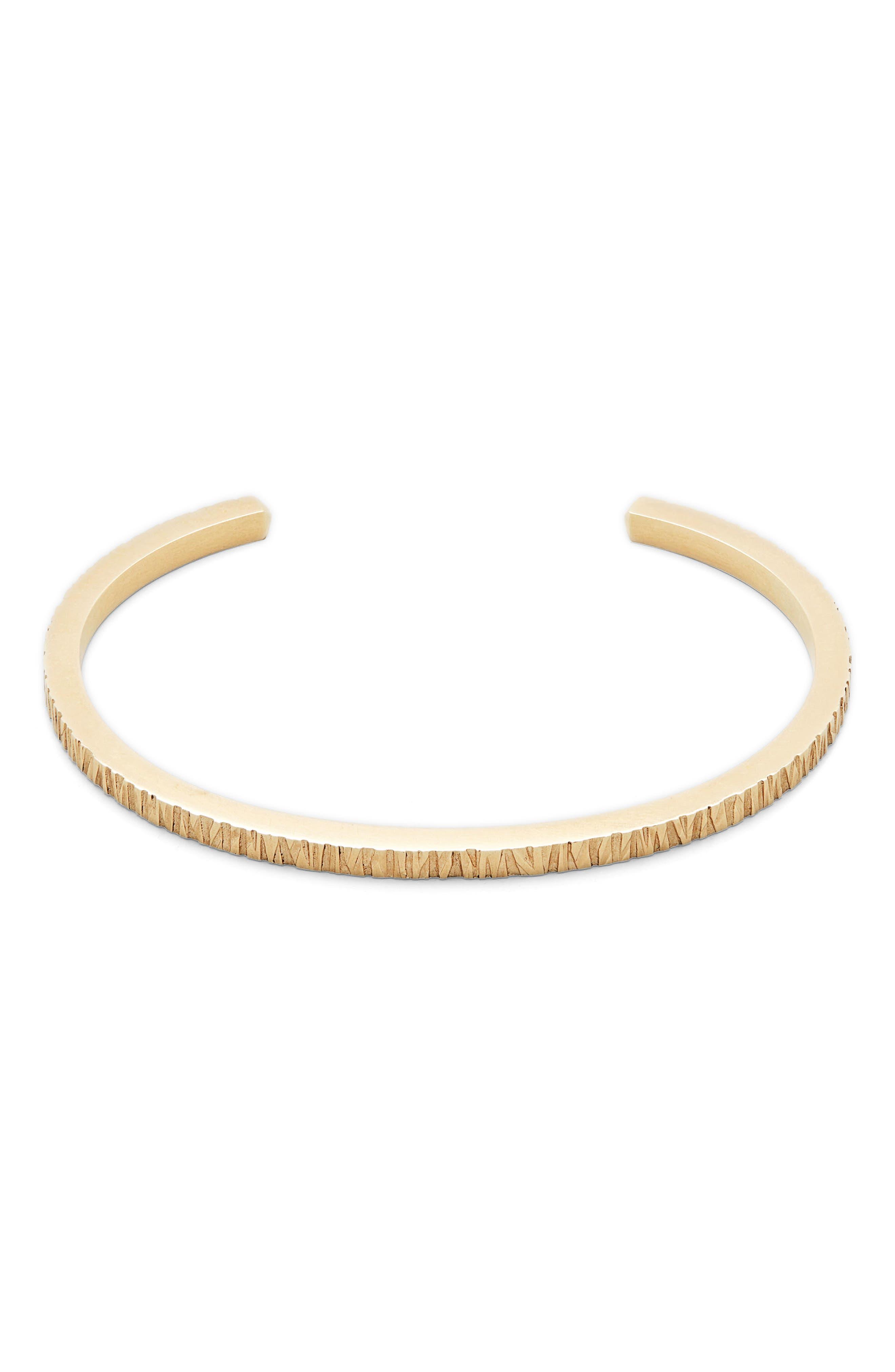 Structured Cuff Bracelet,                         Main,                         color, 9K GOLD