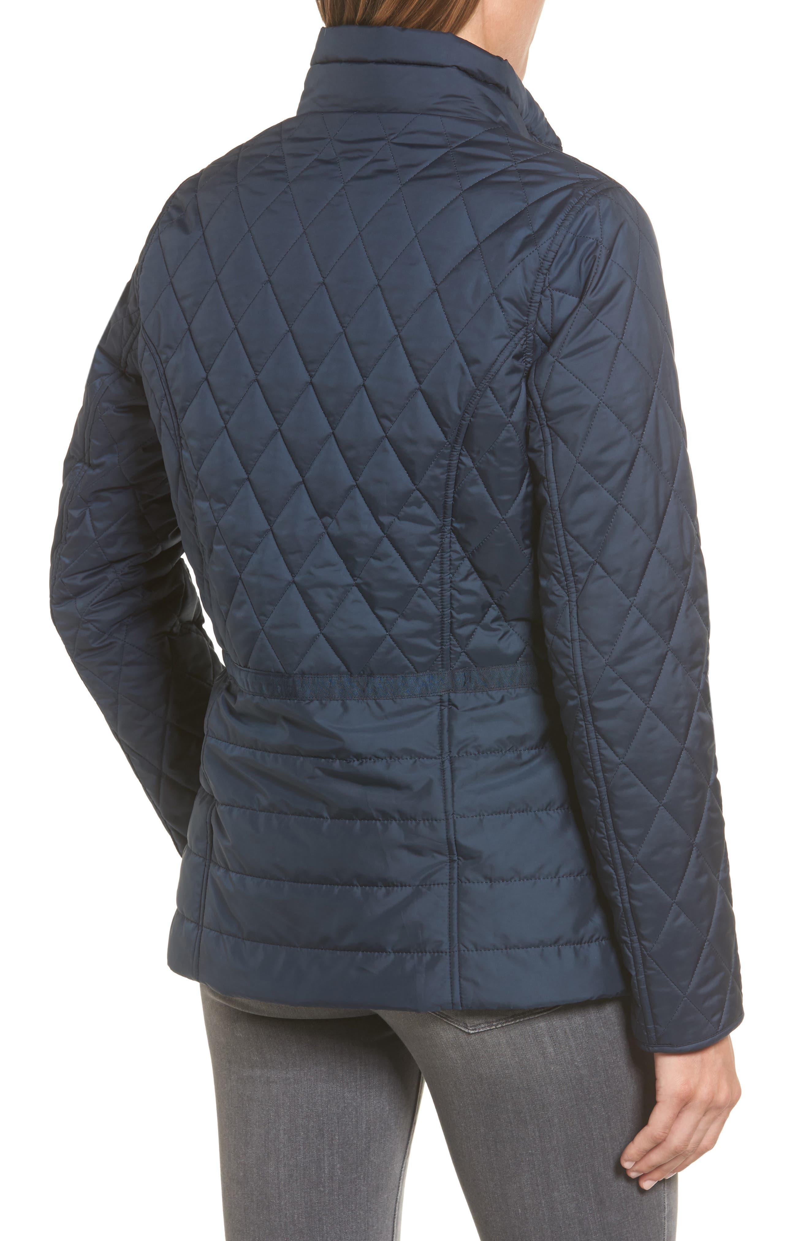 Water Resistant Quilted Jacket,                             Alternate thumbnail 4, color,