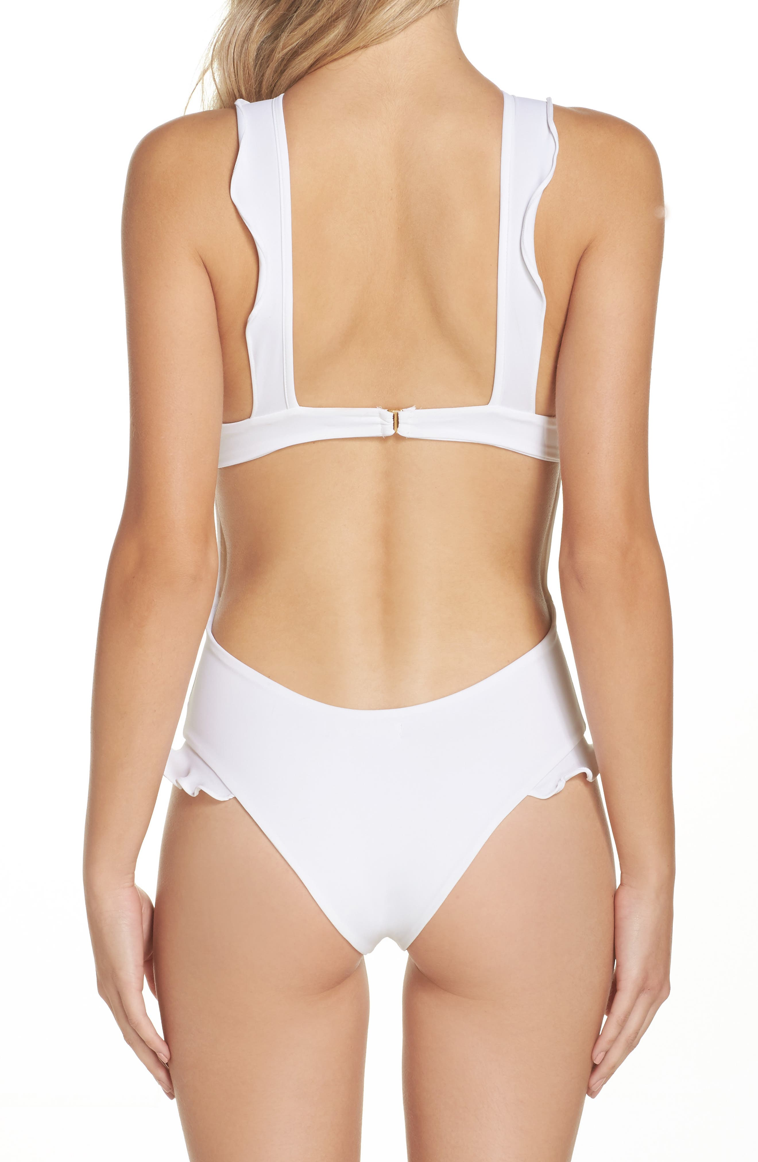 Rodeo Keyhole One-Piece Swimsuit,                             Alternate thumbnail 2, color,                             100