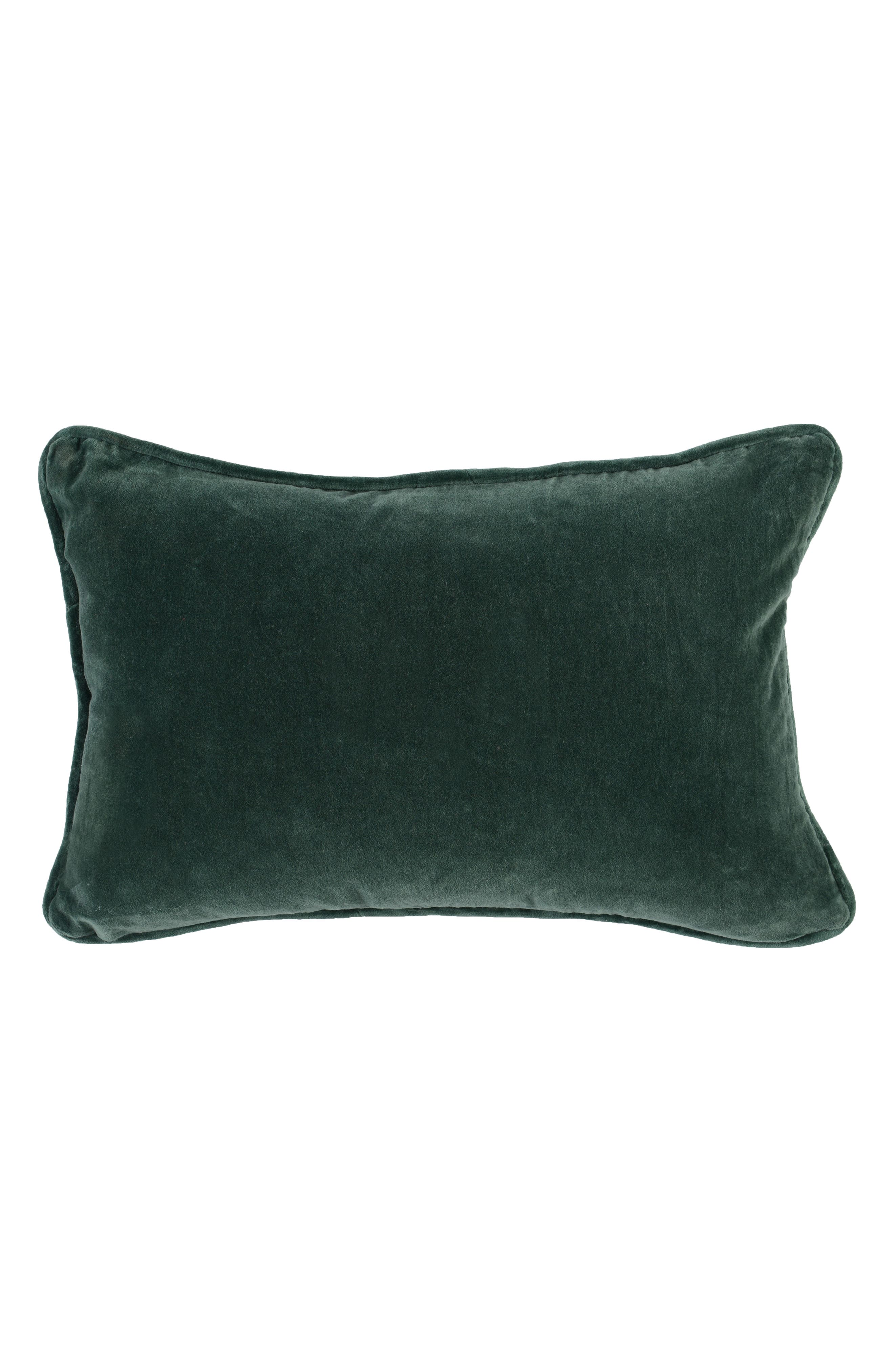 Abby Accent Pillow,                             Alternate thumbnail 2, color,                             NAVY/ GREEN