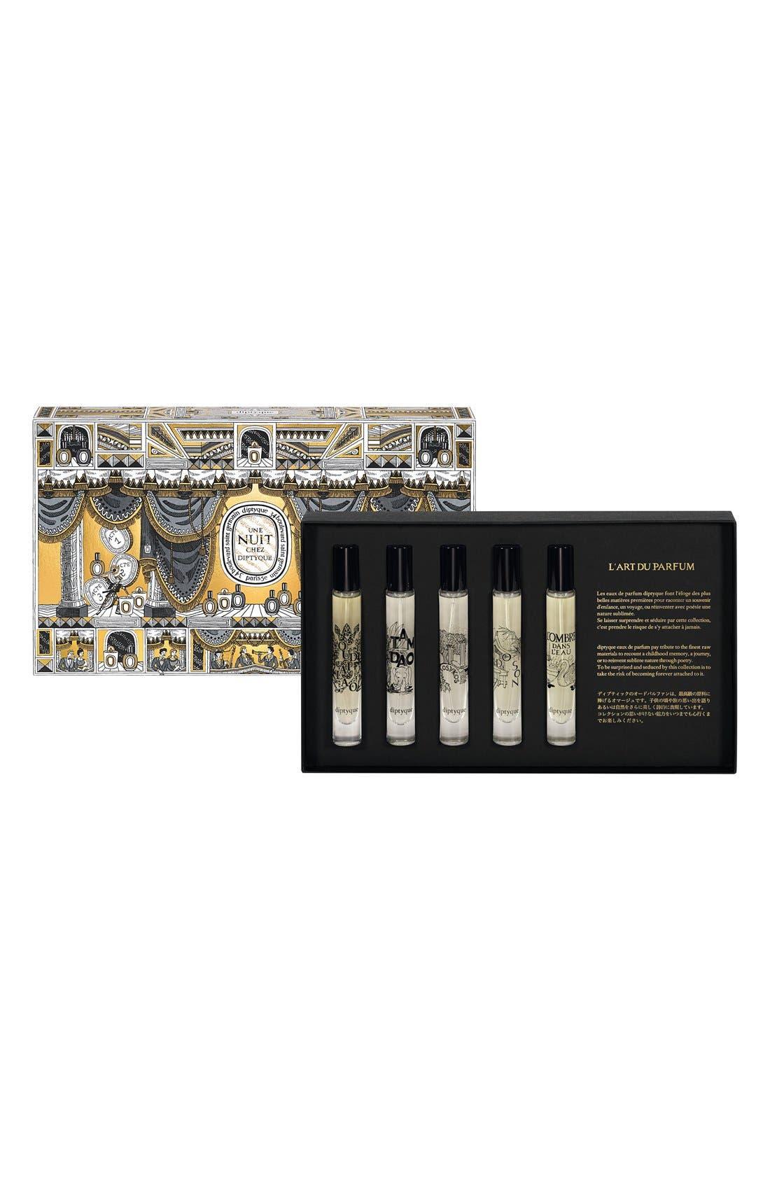 DIPTYQUE,                             Eau de Parfum Discovery Set,                             Main thumbnail 1, color,                             000