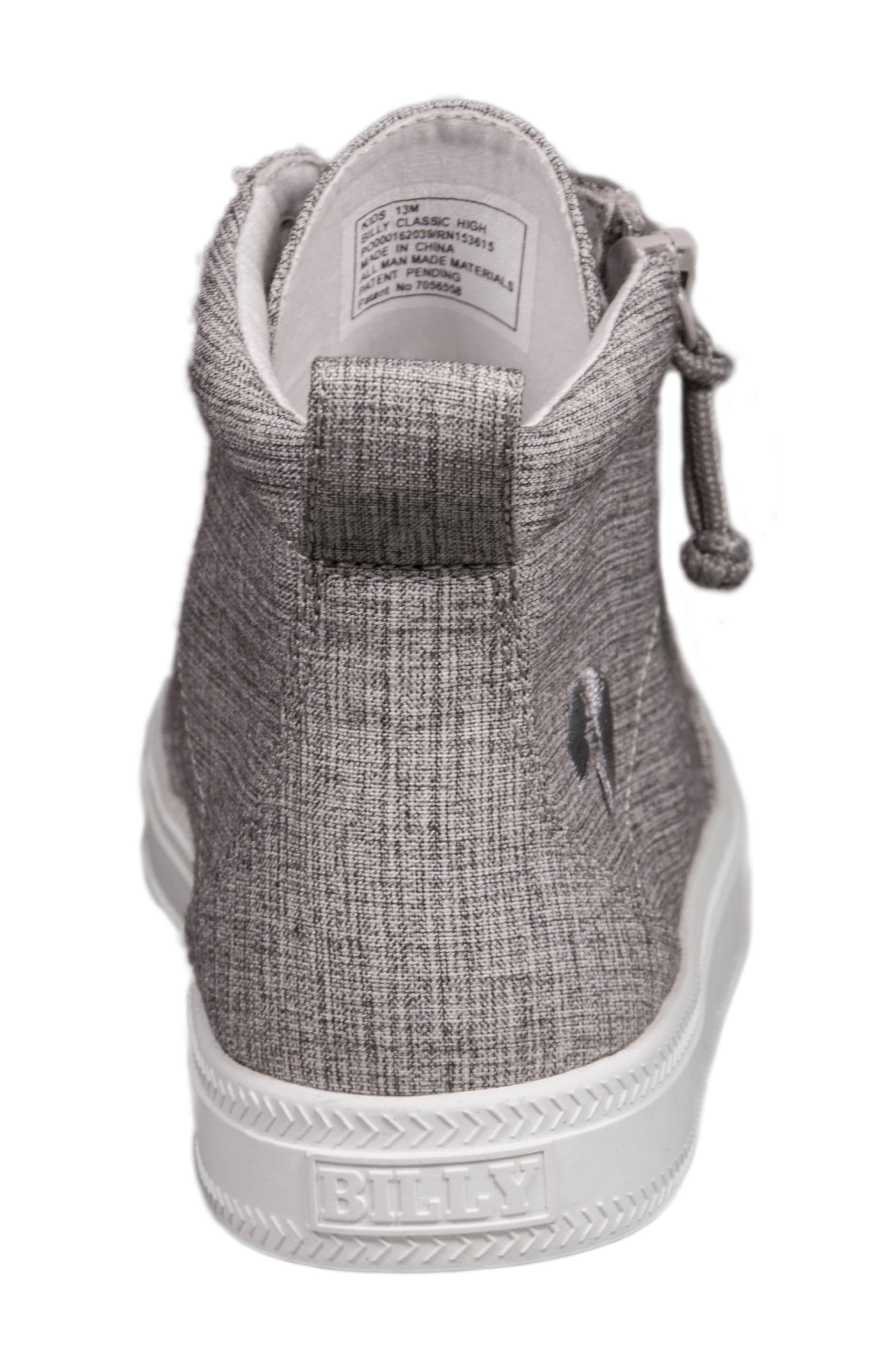 Zip Around High Top Sneaker,                             Alternate thumbnail 7, color,                             GREY JERSEY