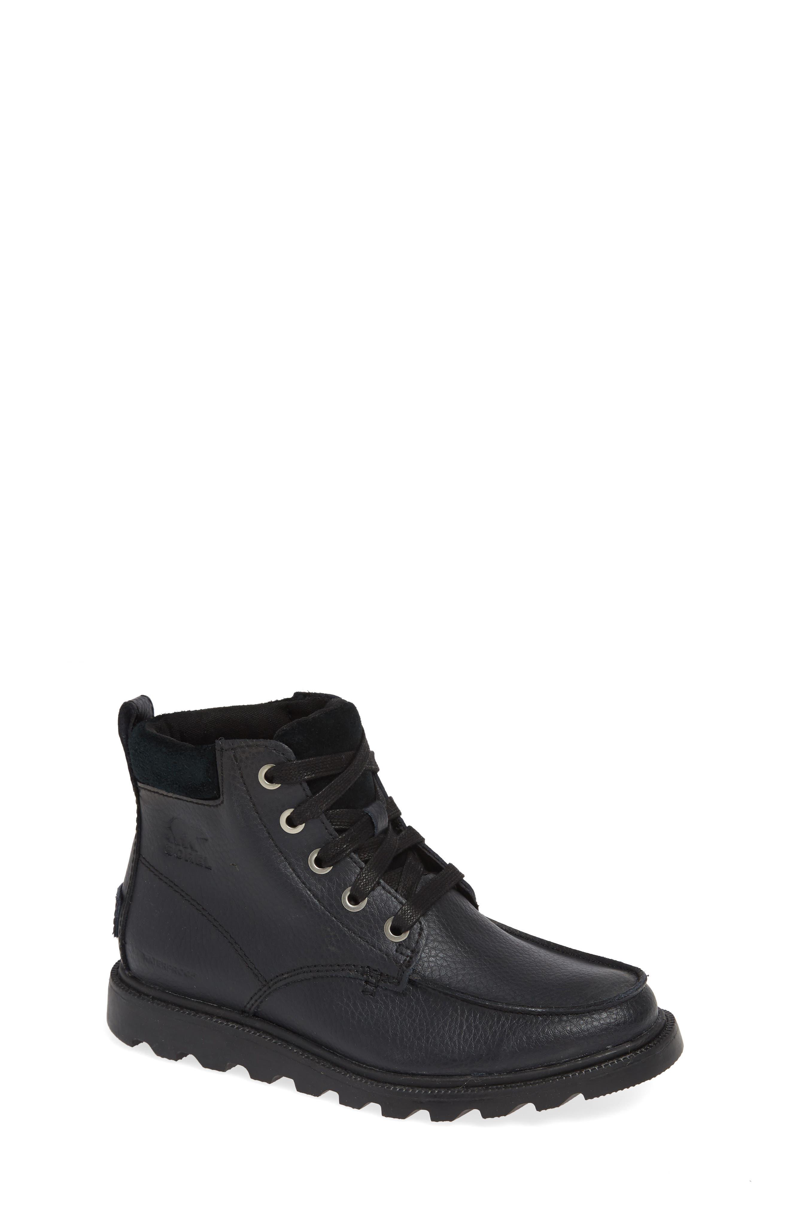 Madson Waterproof Moc Toe Boot,                         Main,                         color, BLACK