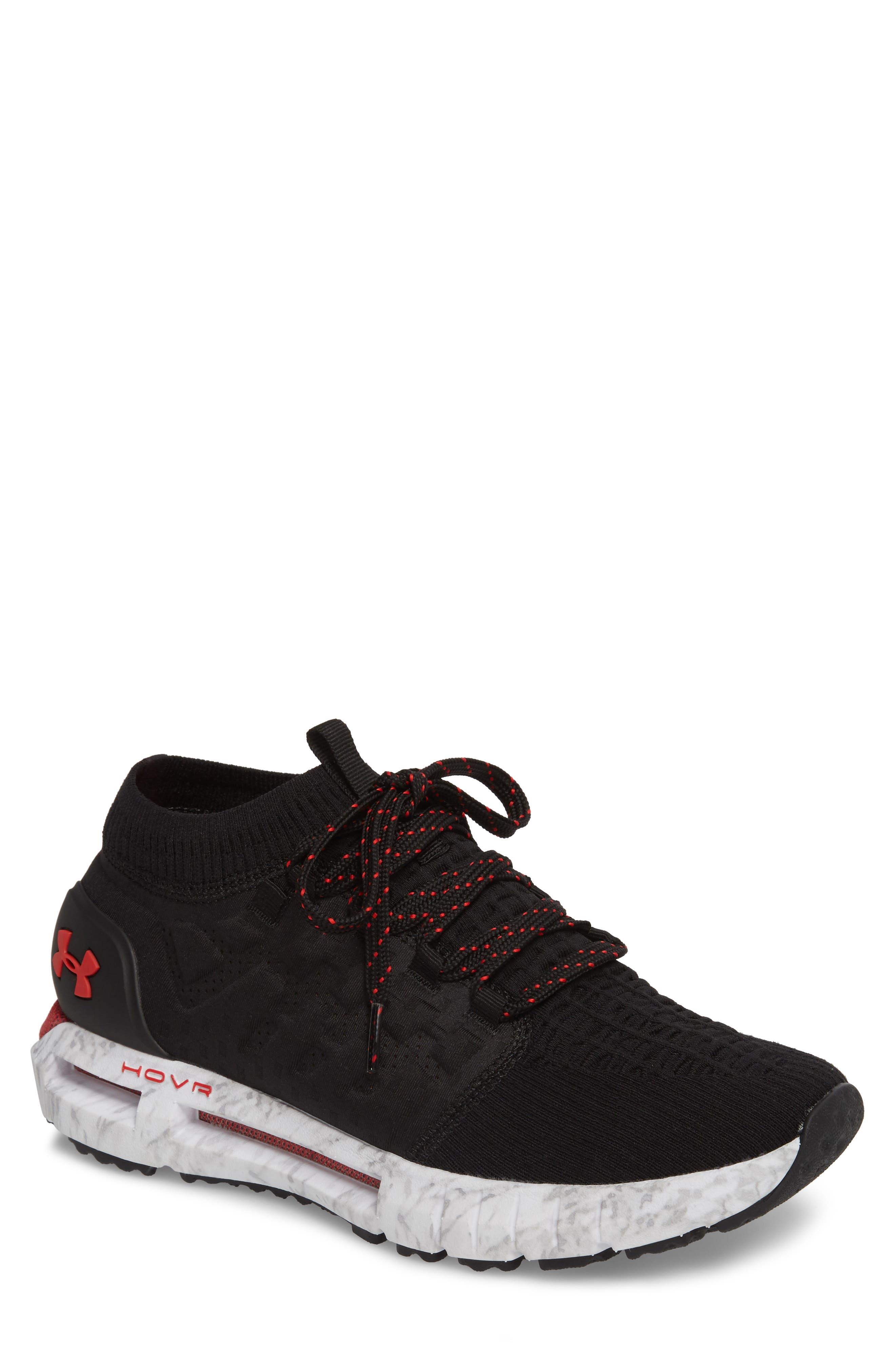 HOVR Phantom NC Sneaker,                         Main,                         color, BLACK/ WHITE/ RED