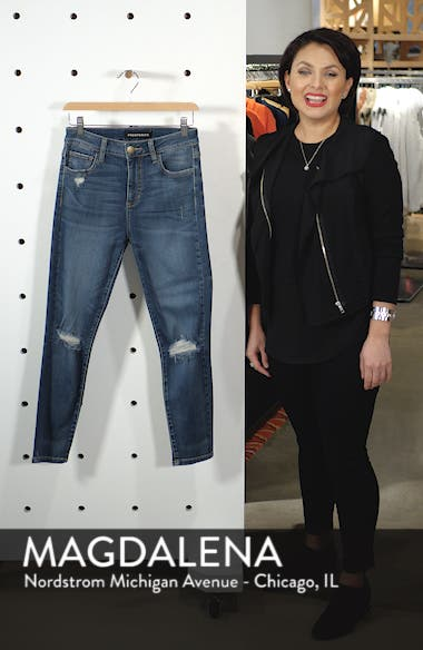 Ripped High Waist Skinny Jeans, sales video thumbnail