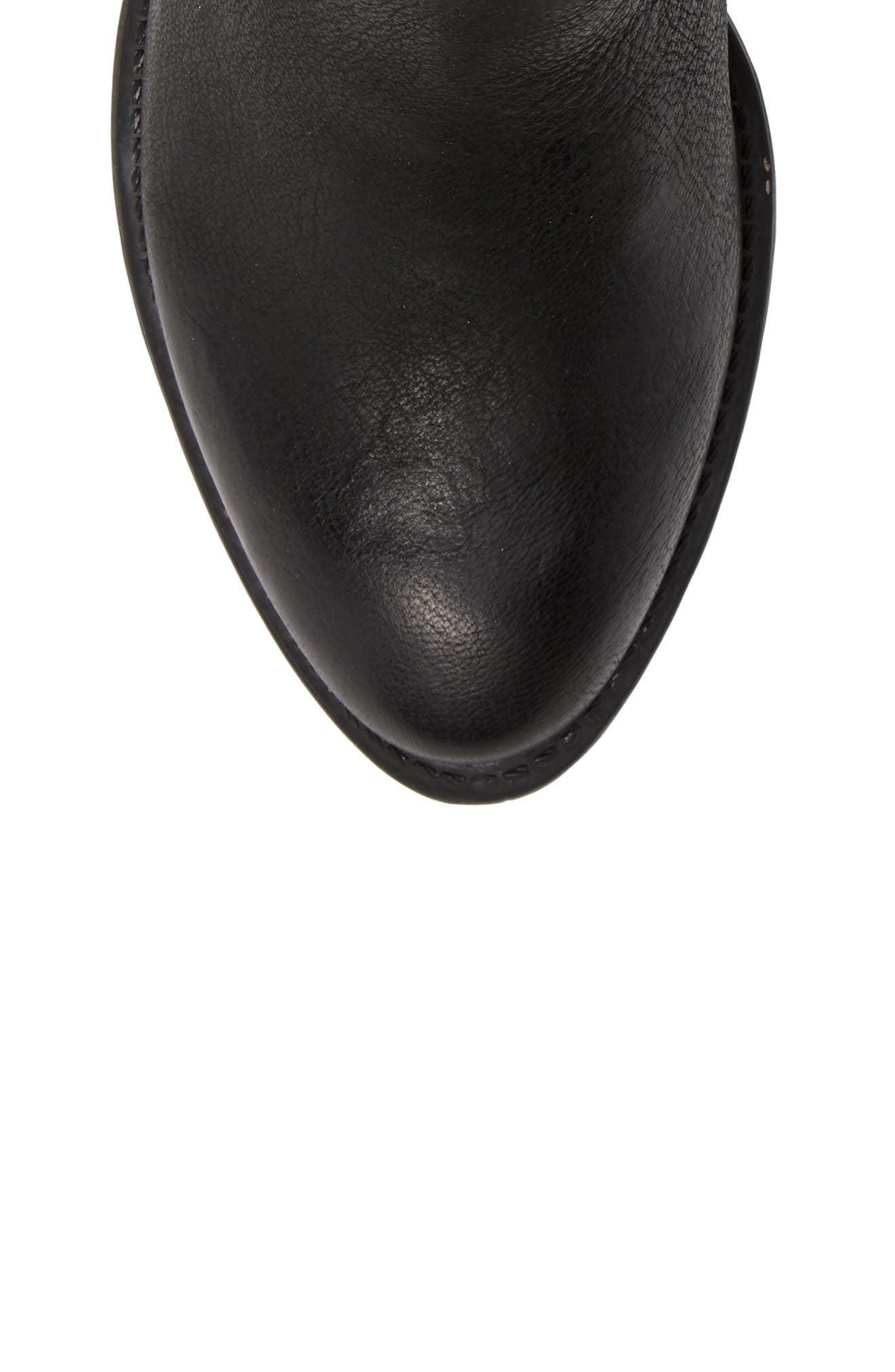 Red Eye Bootie,                             Alternate thumbnail 5, color,                             BLACK LEATHER