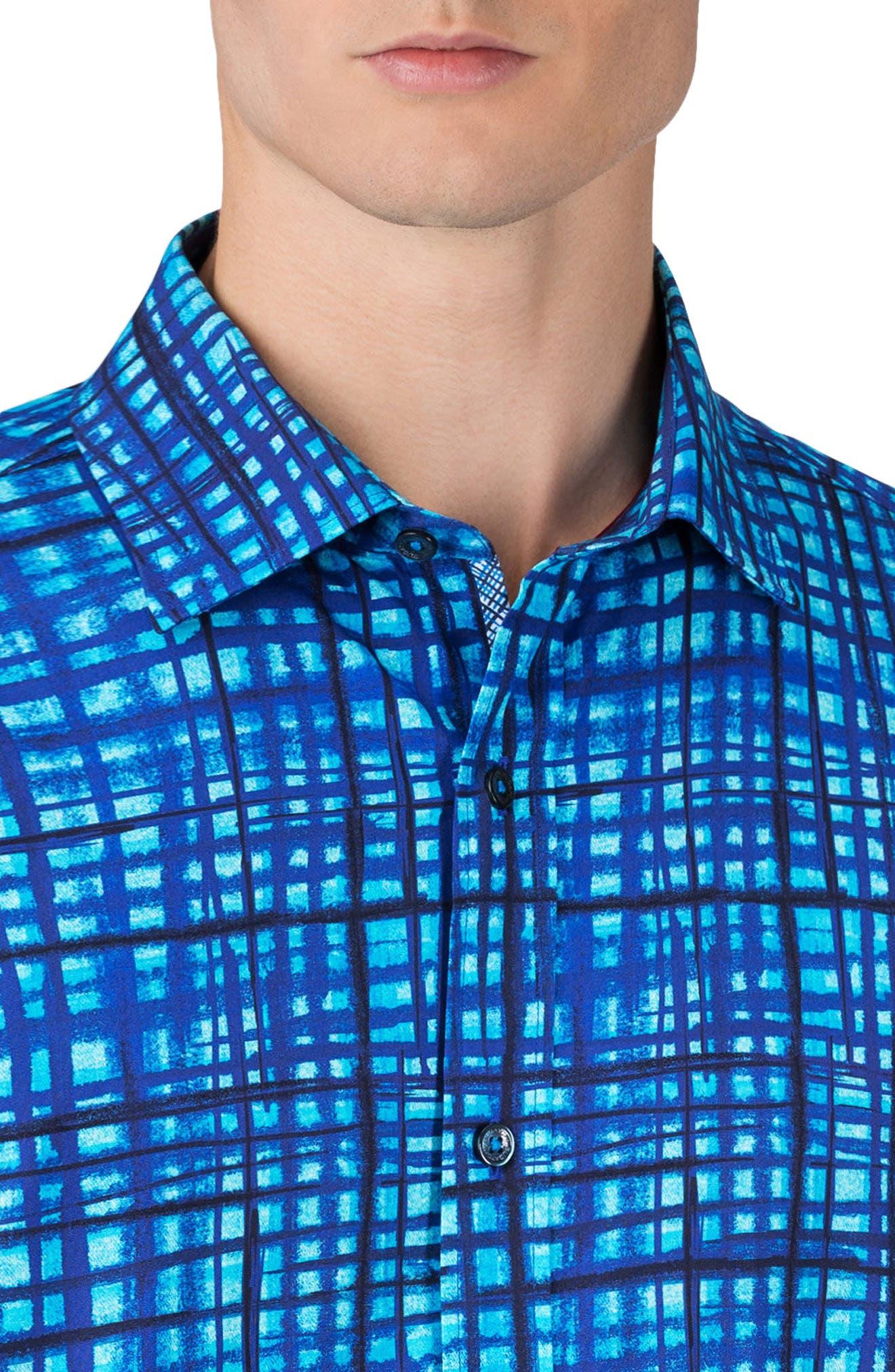 Shaped Fit Sport Shirt,                             Alternate thumbnail 3, color,                             445