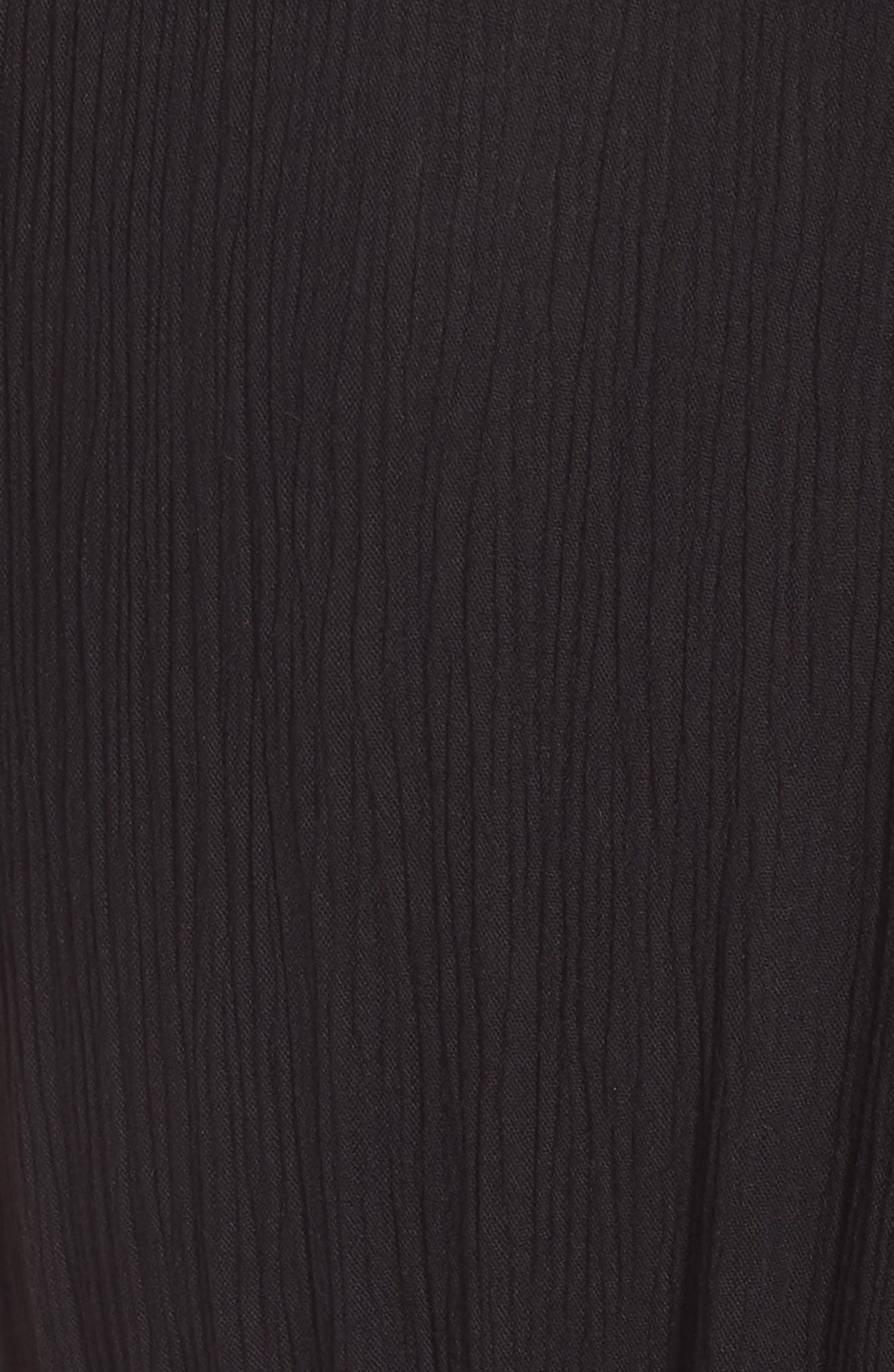Maya Tie Waist Dress,                             Alternate thumbnail 6, color,                             001