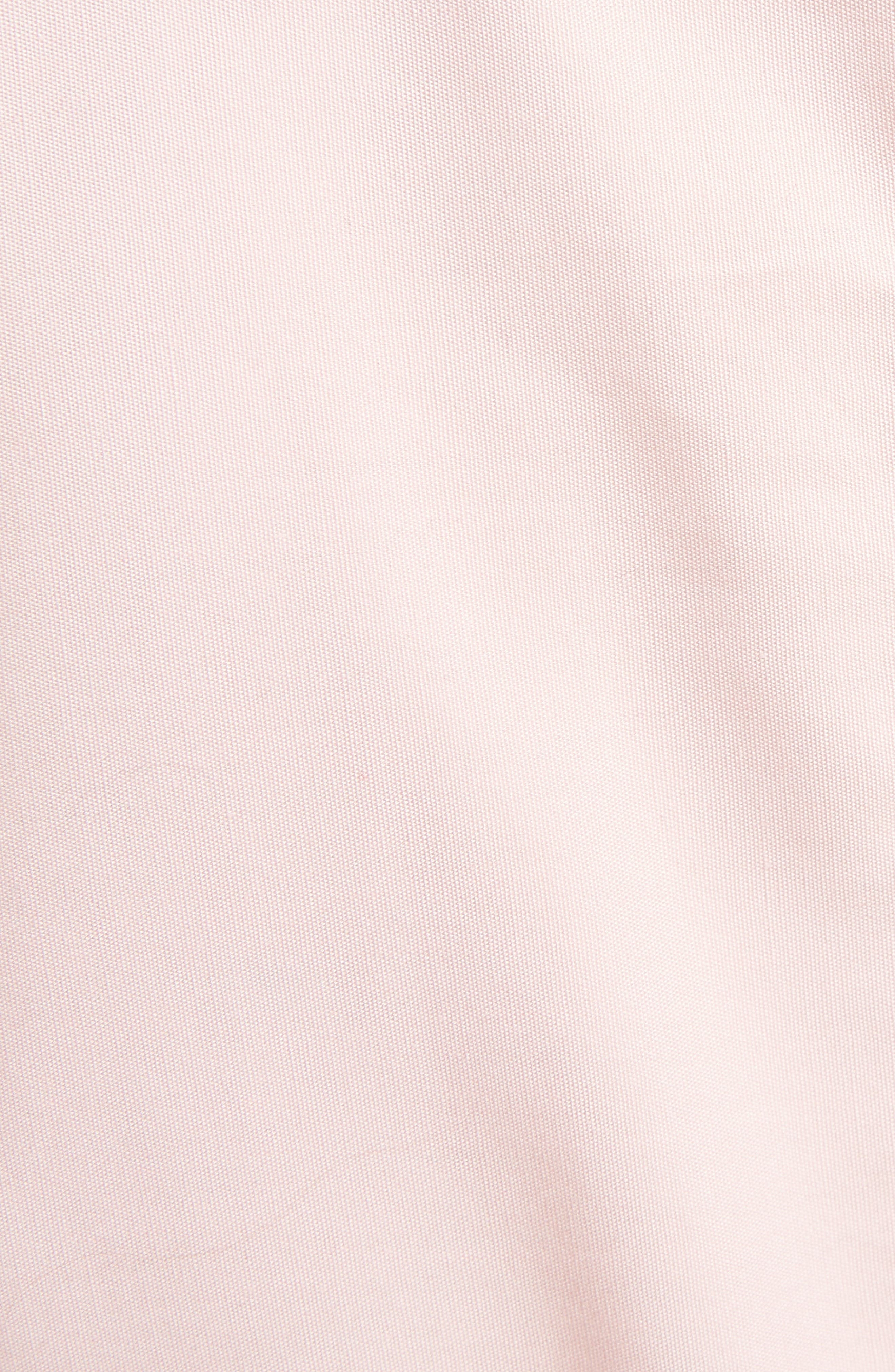 Asymmetrical Ruched Cotton Blouse,                             Alternate thumbnail 5, color,                             650