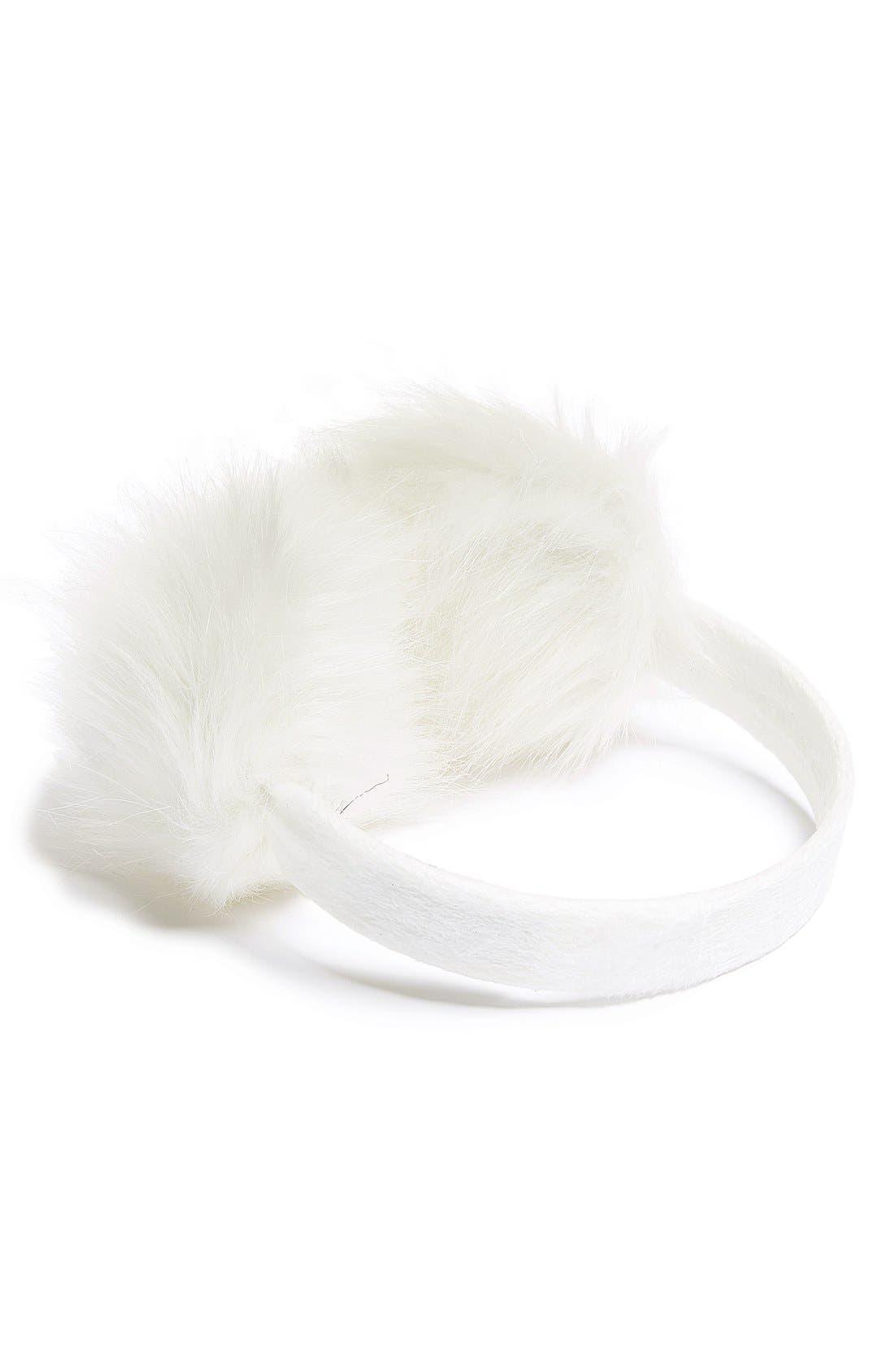 TILDON Faux Fur Earmuffs, Main, color, 100