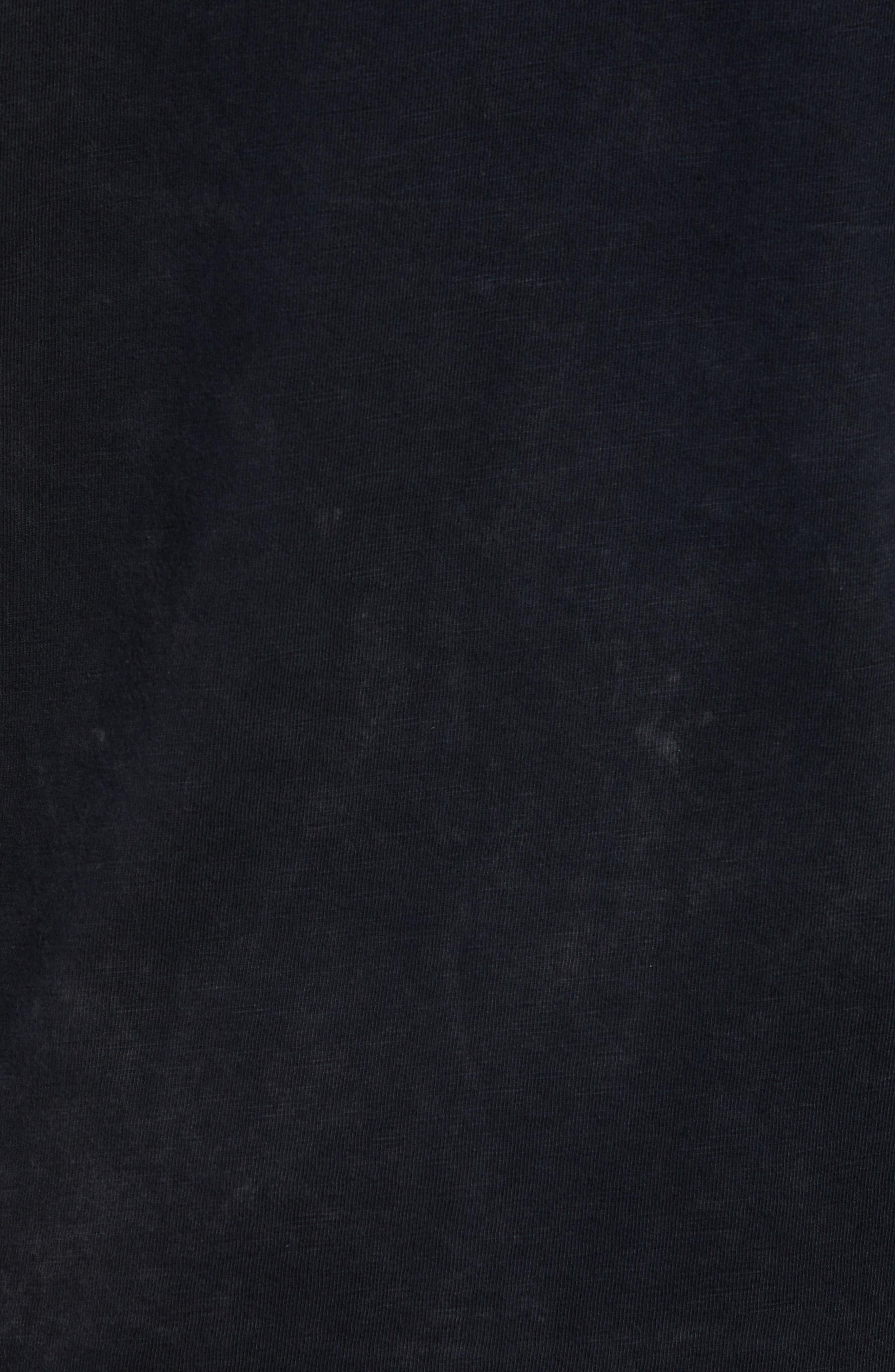 Vampire Graphic Long Sleeve T-Shirt,                             Alternate thumbnail 5, color,                             BLACK