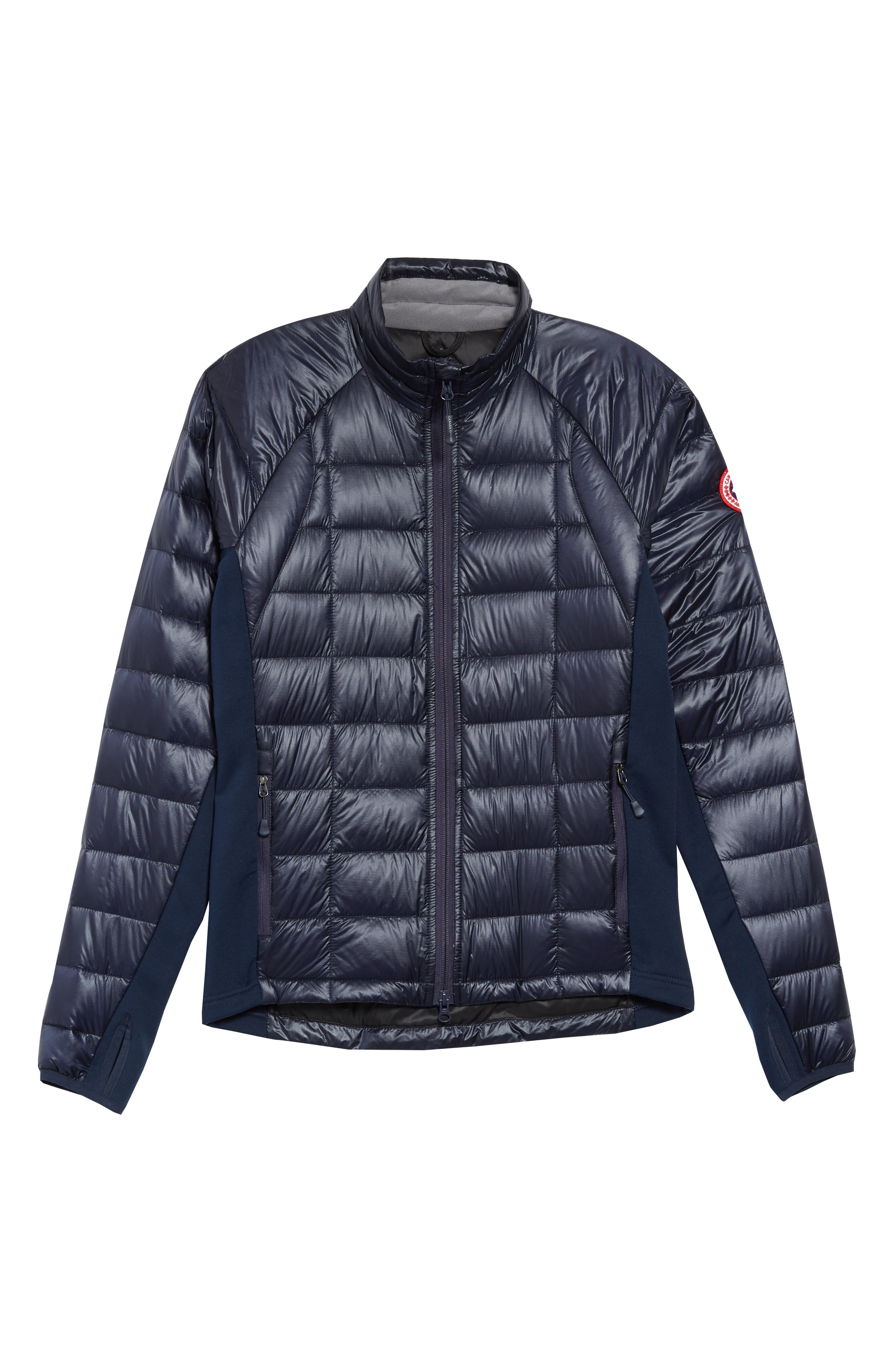 'Hybridge<sup>™</sup> Lite' Slim Fit Packable Jacket,                             Alternate thumbnail 4, color,                             ADMIRAL BLUE/ BLACK