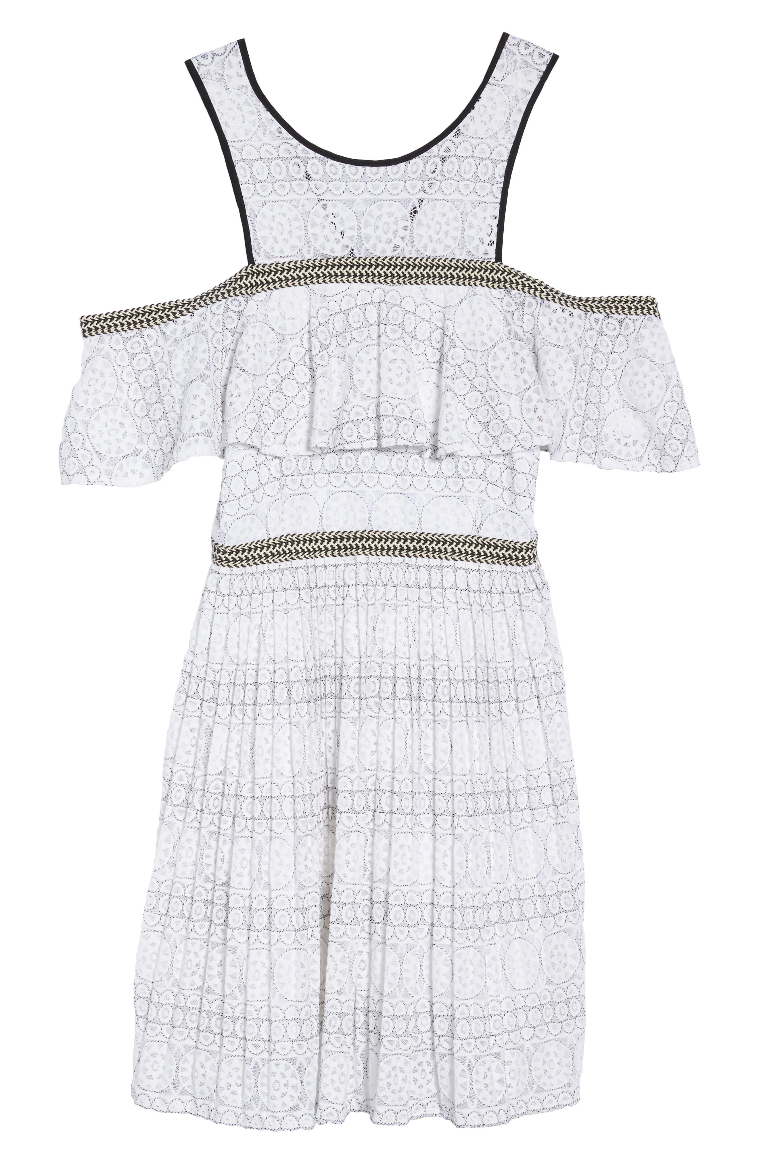Belinda Lace Cold Shoulder Dress,                             Alternate thumbnail 6, color,