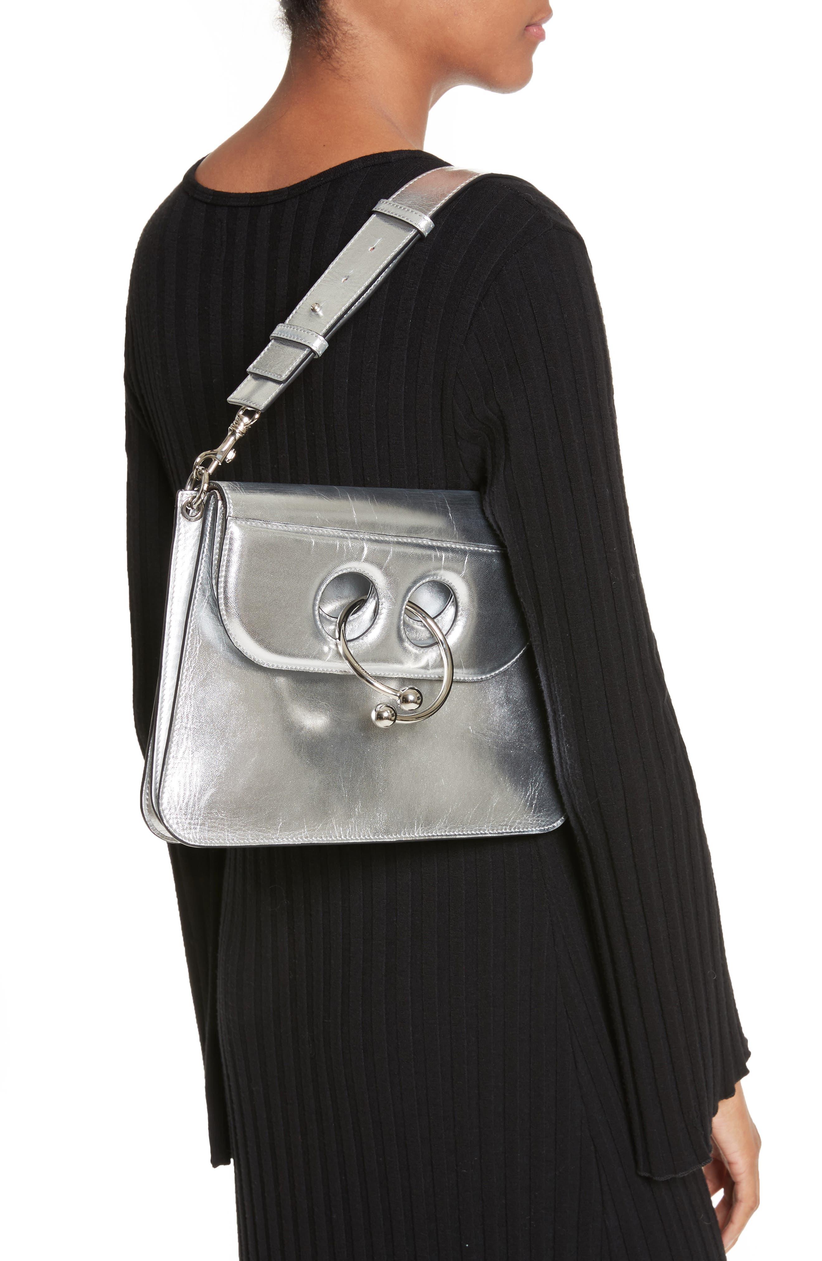 J.W.ANDERSON Medium Pierce Metallic Shoulder Bag,                             Alternate thumbnail 2, color,                             040