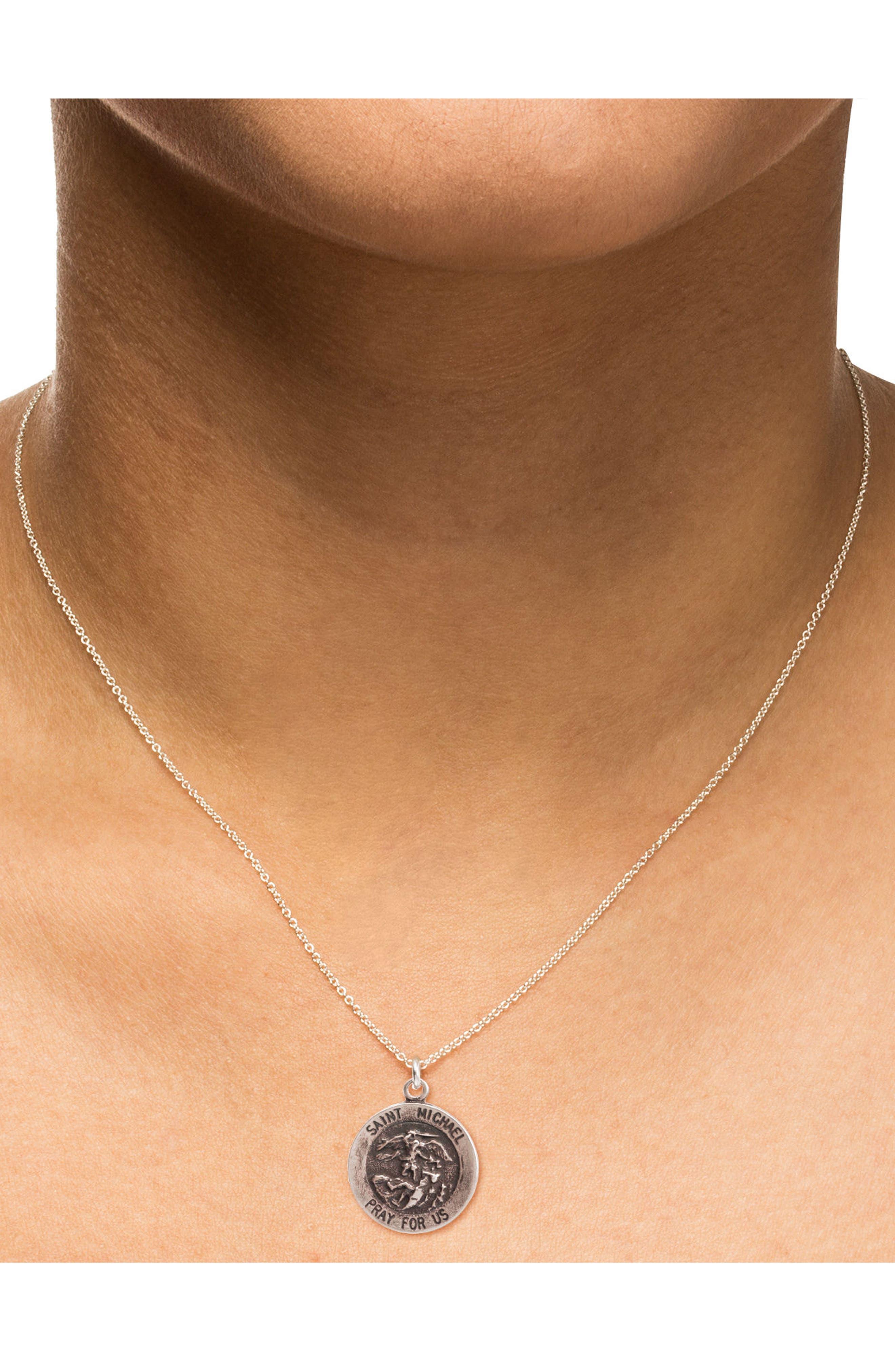 Saint Michael Pendant Necklace,                             Alternate thumbnail 2, color,                             042