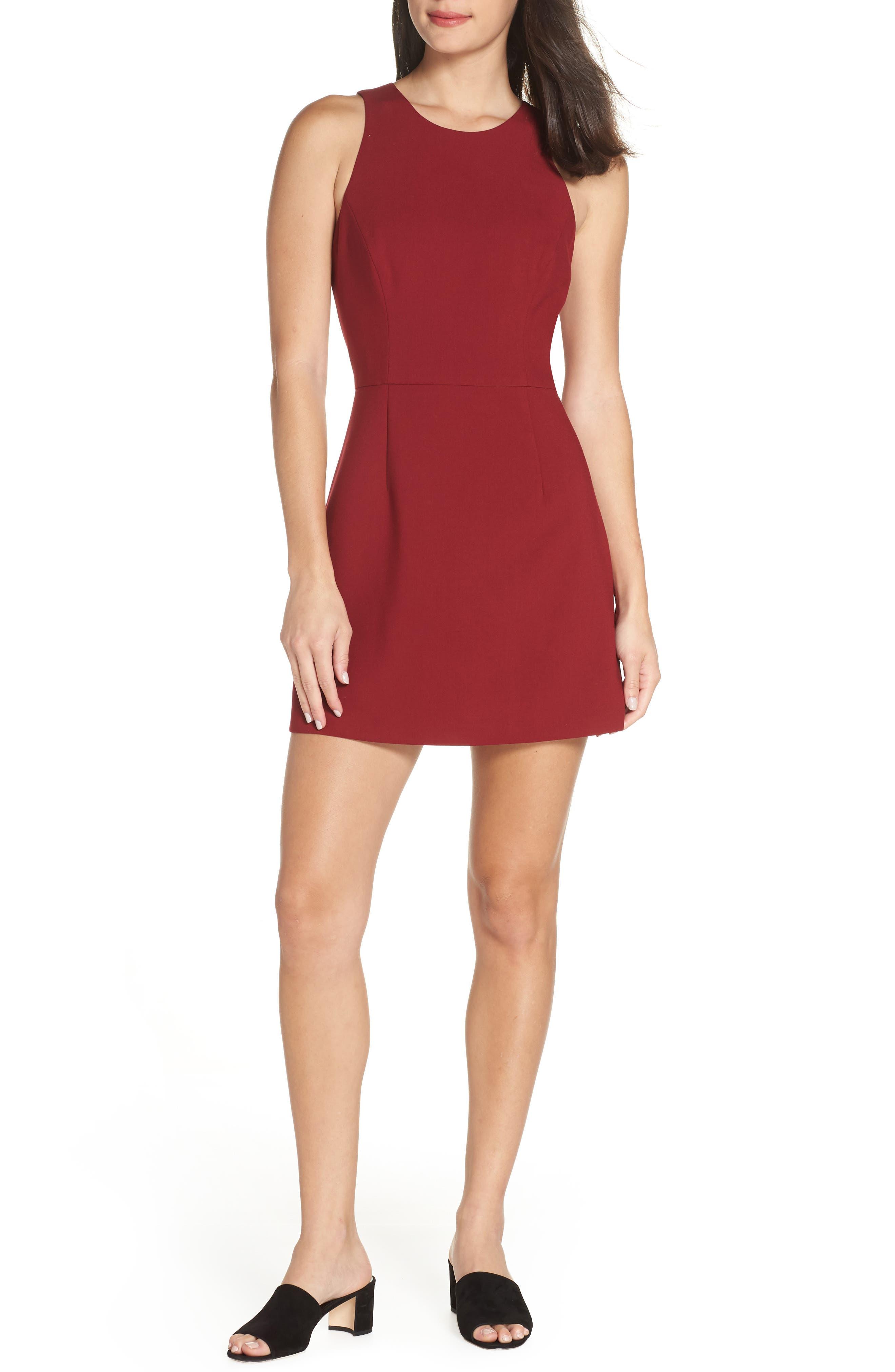 V-Back Tank Dress,                         Main,                         color, DEEP FRAMBOISE
