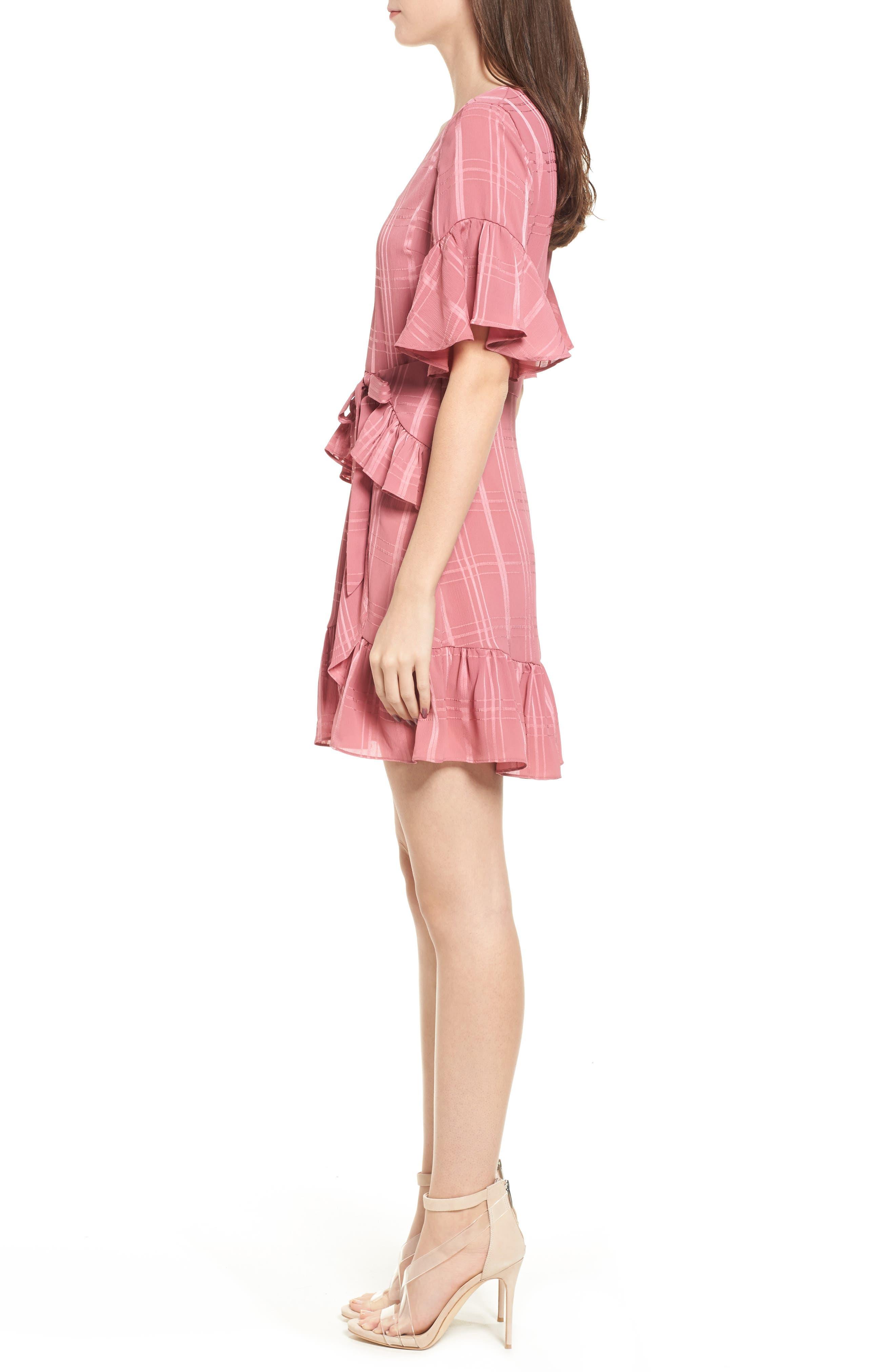 Hudson Ruffle Minidress,                             Alternate thumbnail 3, color,                             683