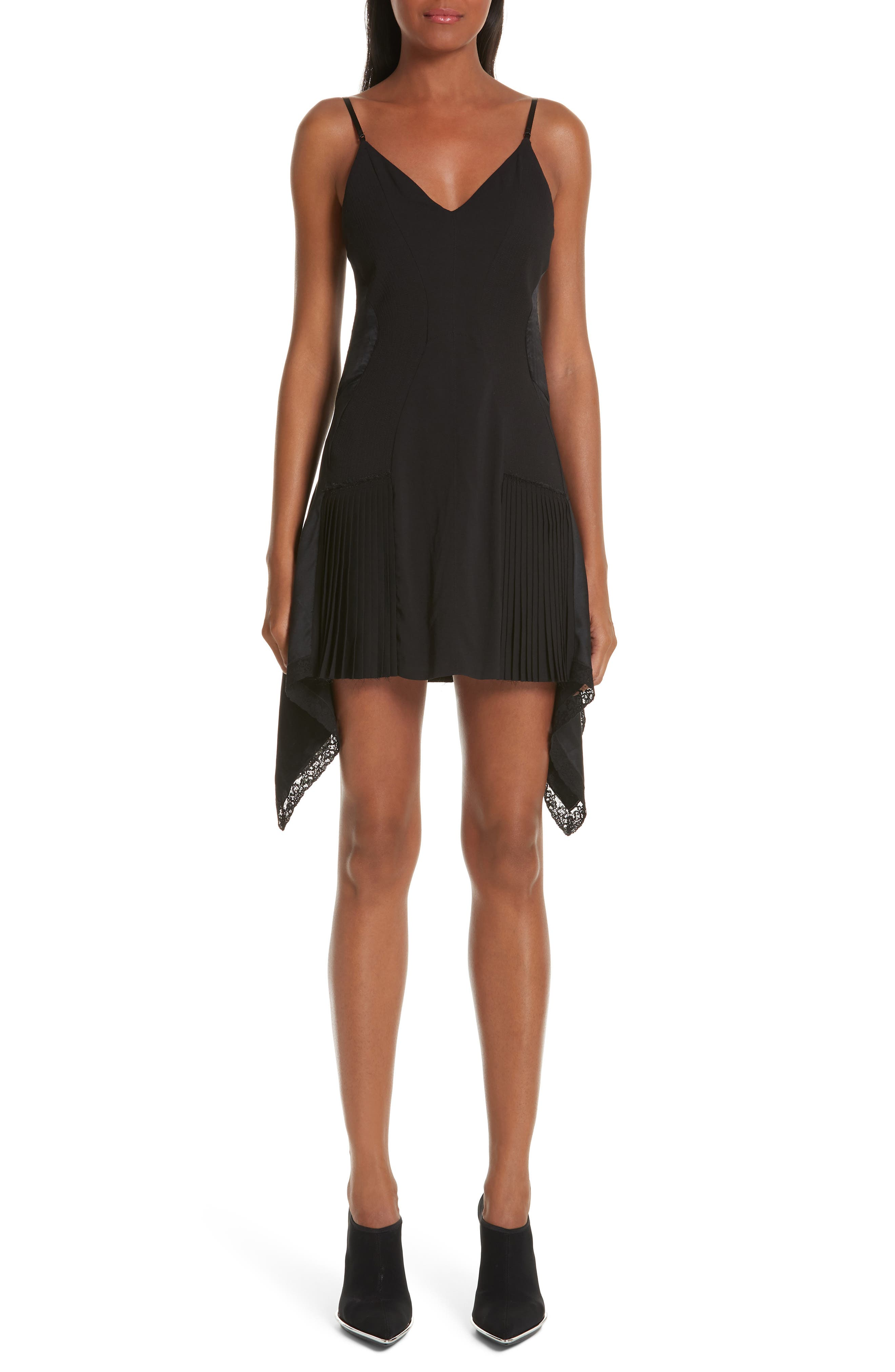 Alexander Wang Pleat Inset Slipdress