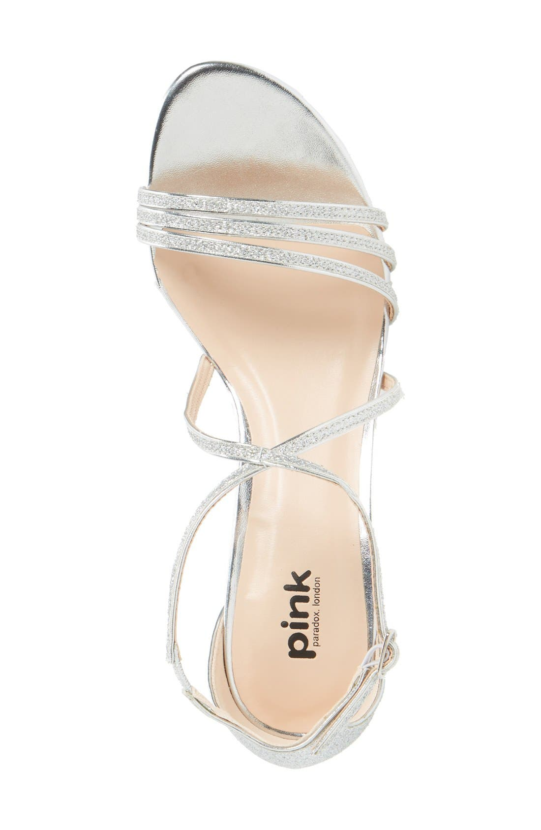 PARADOX LONDON PINK,                             'Isla' Glitter Sandal,                             Alternate thumbnail 3, color,                             040