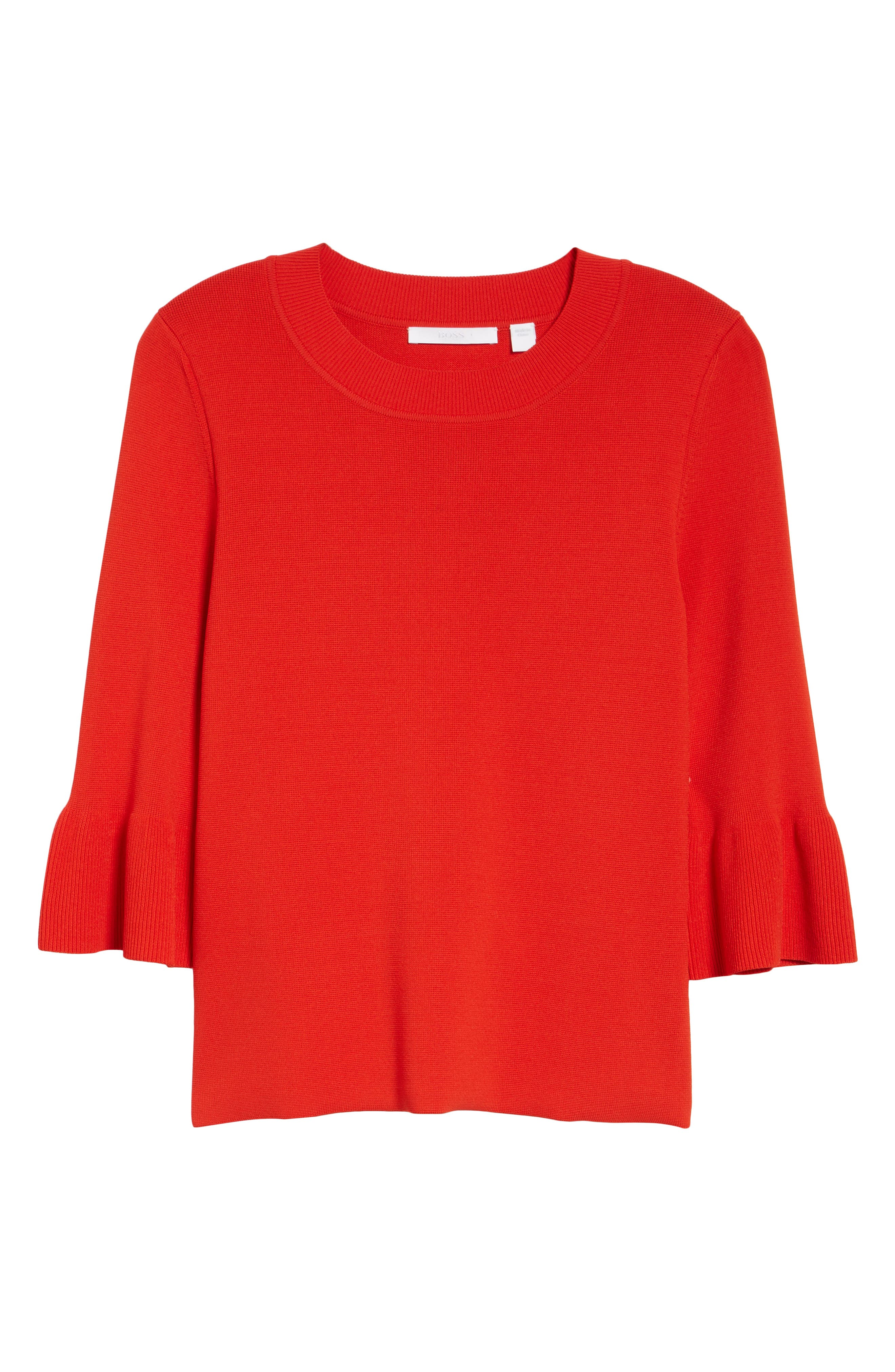 Fenella Ruffle Sleeve Sweater,                             Alternate thumbnail 12, color,