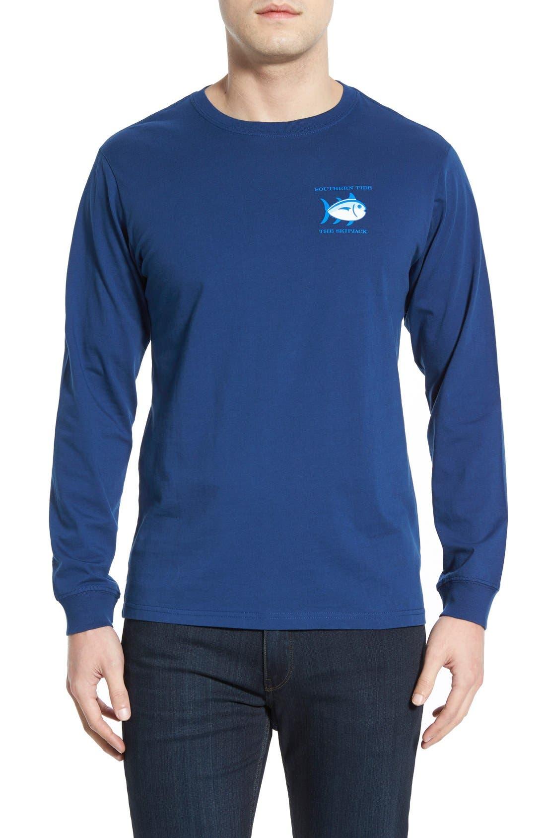 'Skipjack'Long Sleeve Graphic T-Shirt,                             Alternate thumbnail 24, color,
