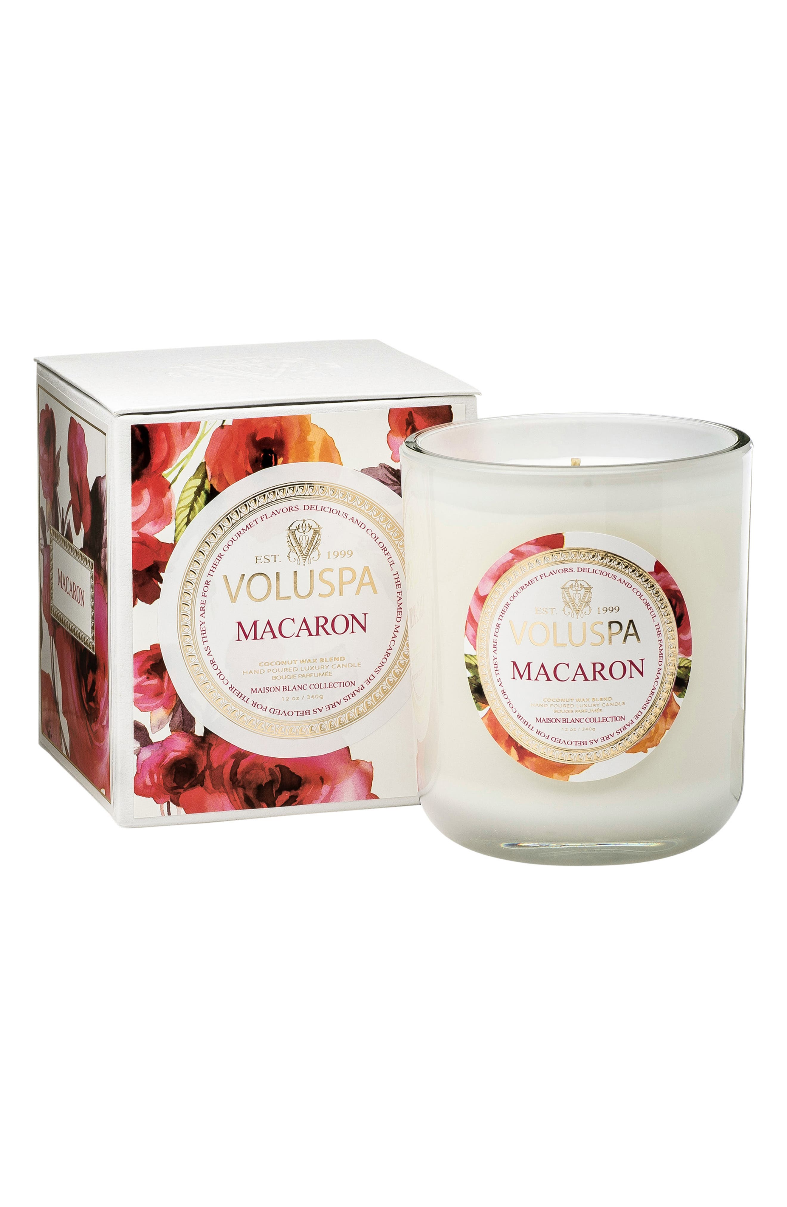 Maison Blanc Macaron Classic Maison Candle,                             Alternate thumbnail 3, color,                             NO COLOR