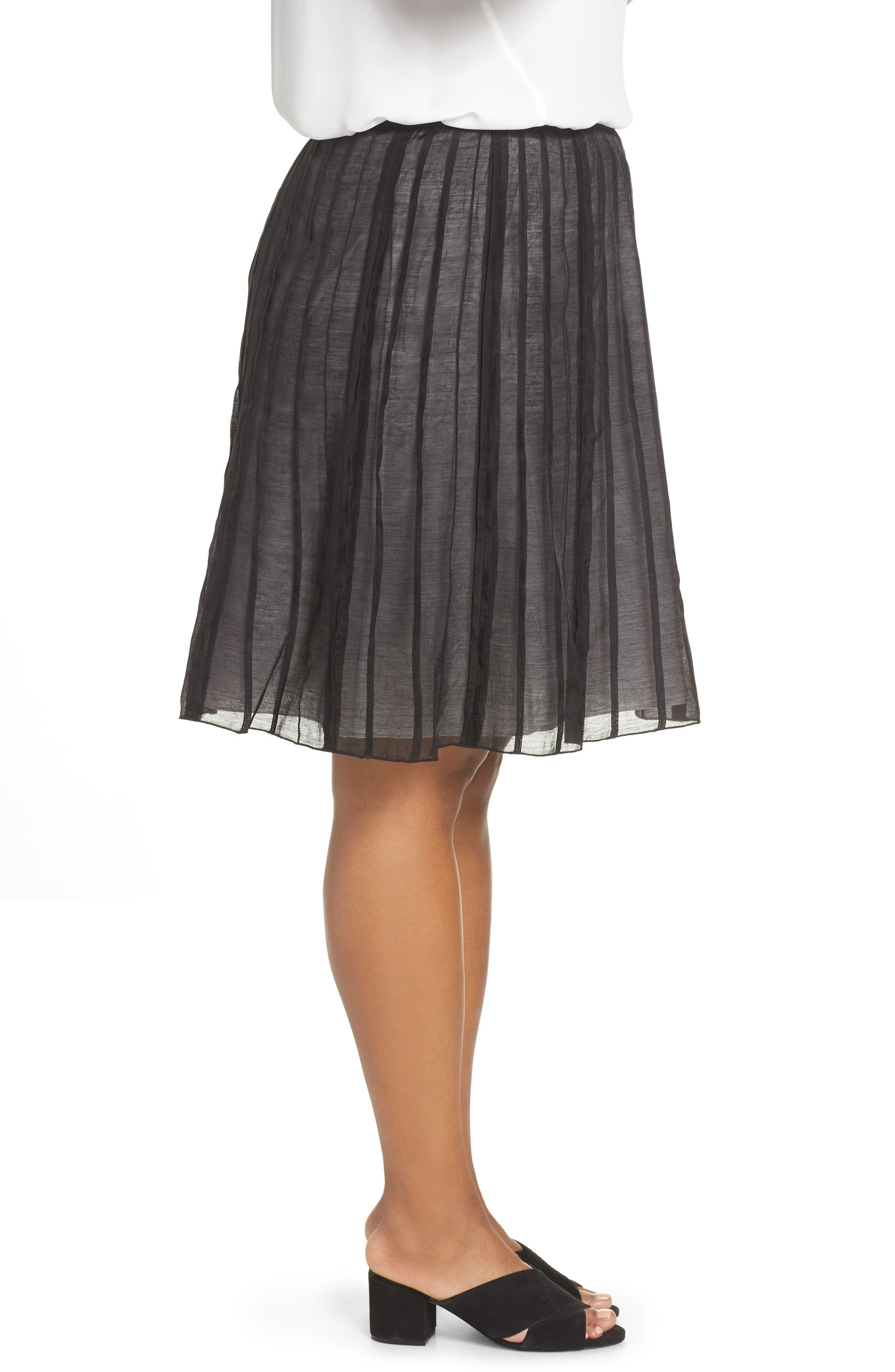 Batiste Flirt Skirt,                             Alternate thumbnail 3, color,                             BLACK ONYX