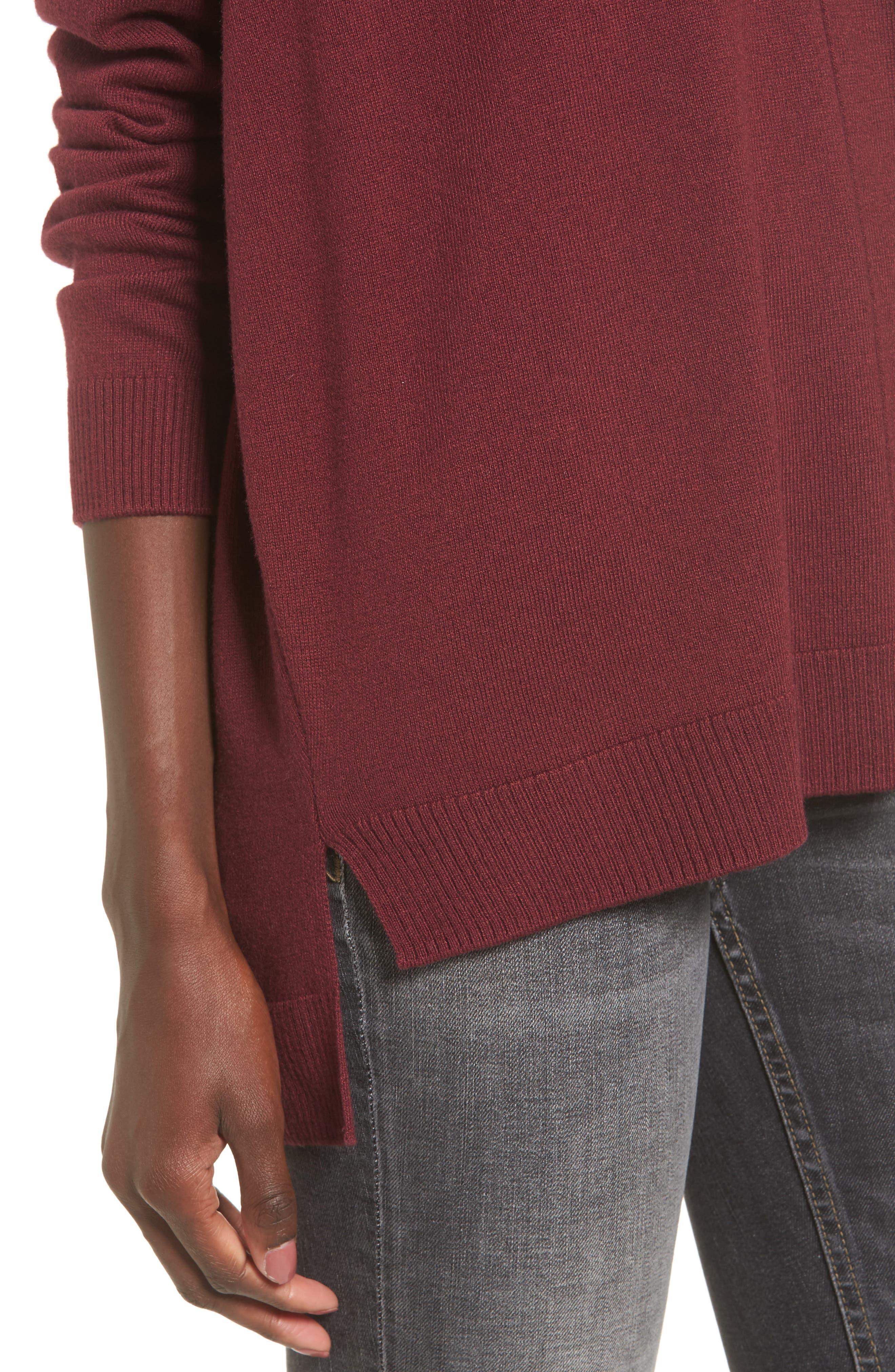 V-Neck Sweater,                             Alternate thumbnail 4, color,                             601