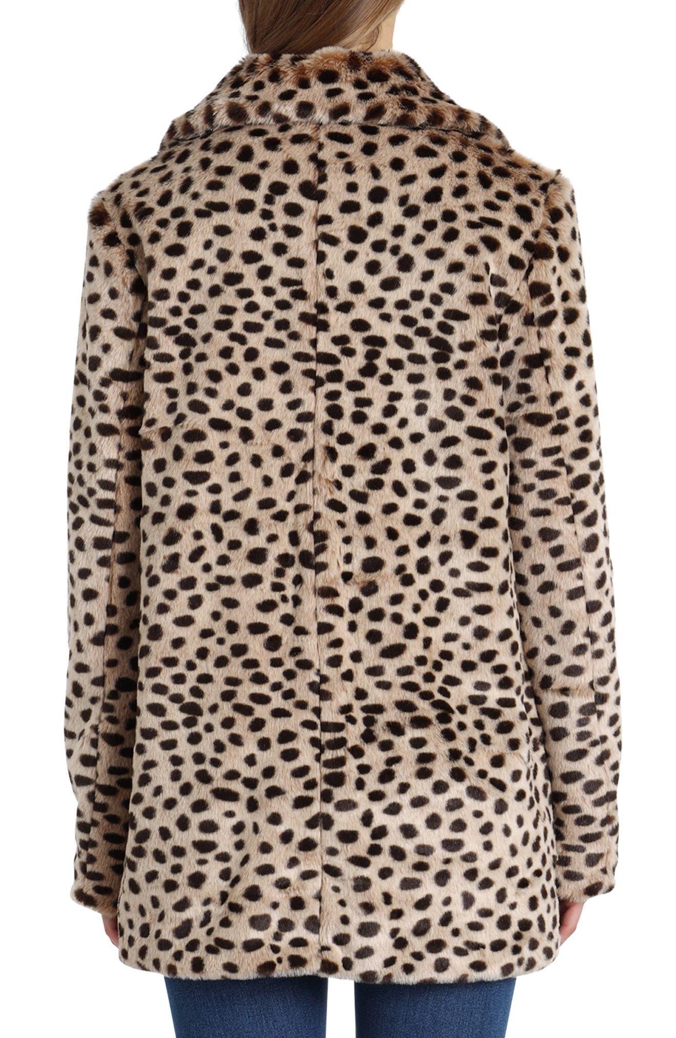 Leopard Print Faux Fur Coat,                             Alternate thumbnail 2, color,                             200