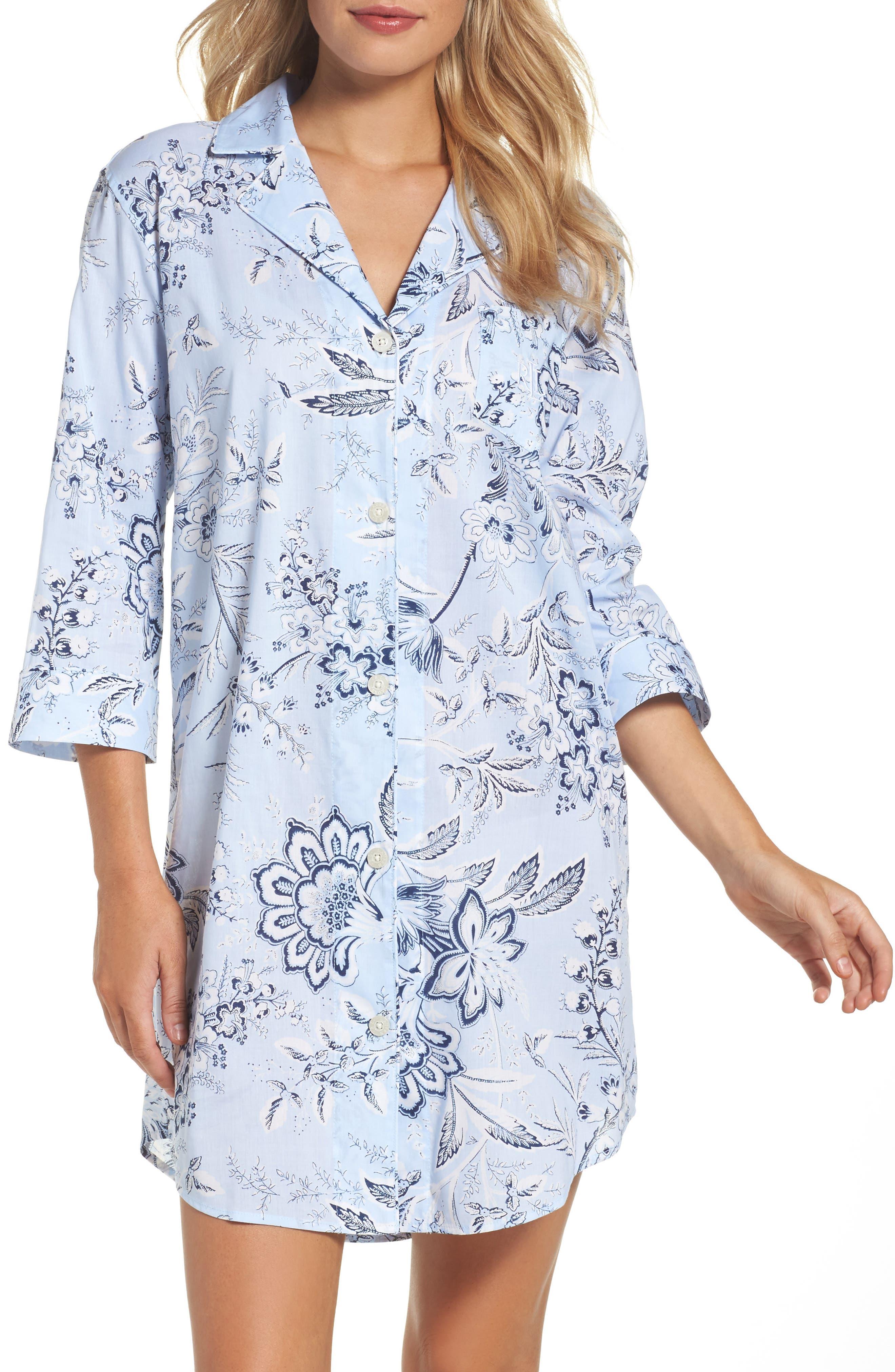 Sleep Shirt,                         Main,                         color, 406