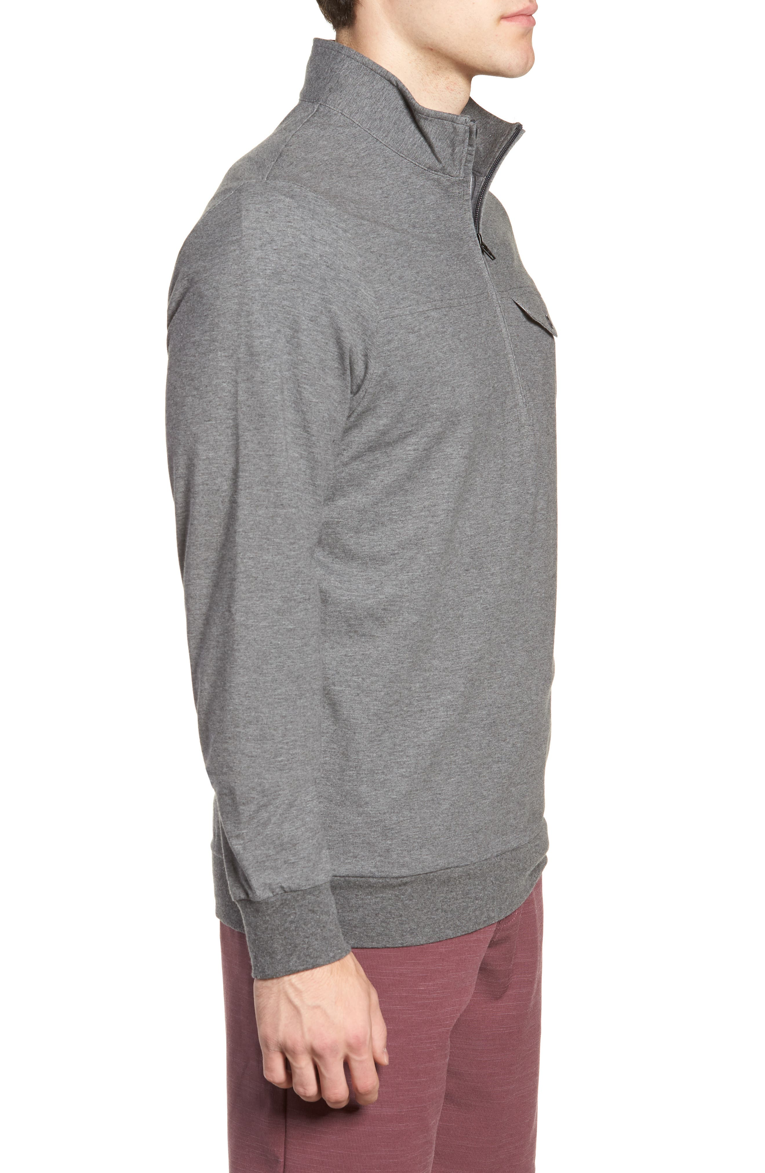 The 805 Half Zip Pullover,                             Alternate thumbnail 3, color,                             HEATHER DARK SHADOW