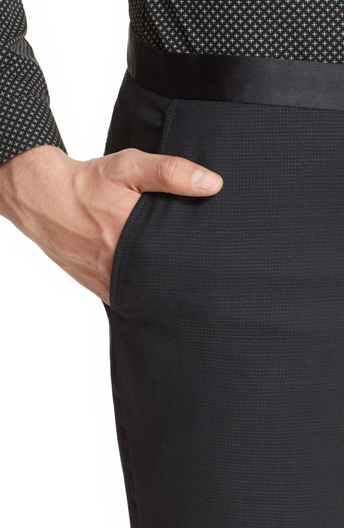 'Netting' Wool Dress Pants,                             Alternate thumbnail 2, color,                             001
