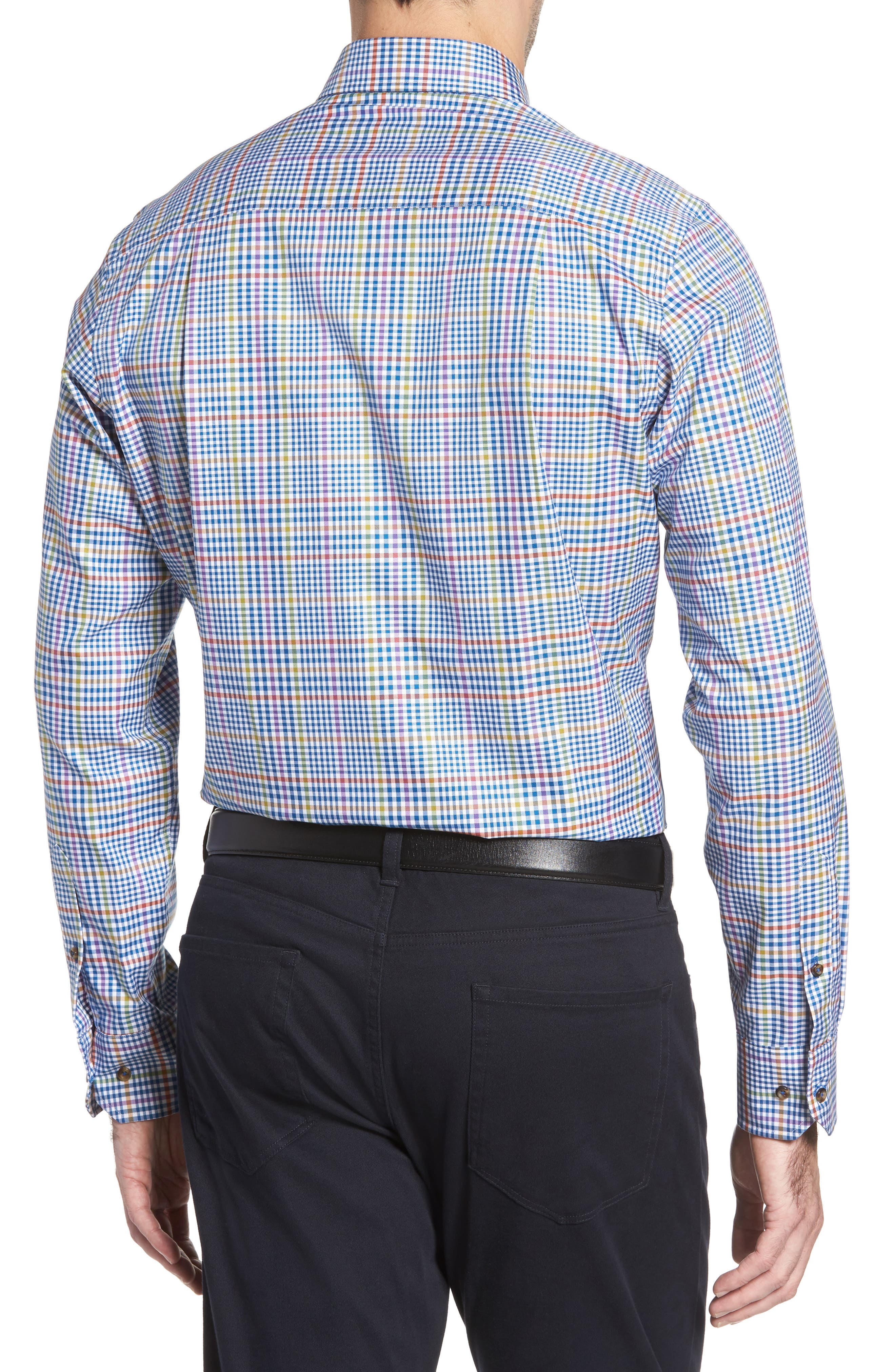 Regular Fit Plaid Sport Shirt,                             Alternate thumbnail 2, color,                             423