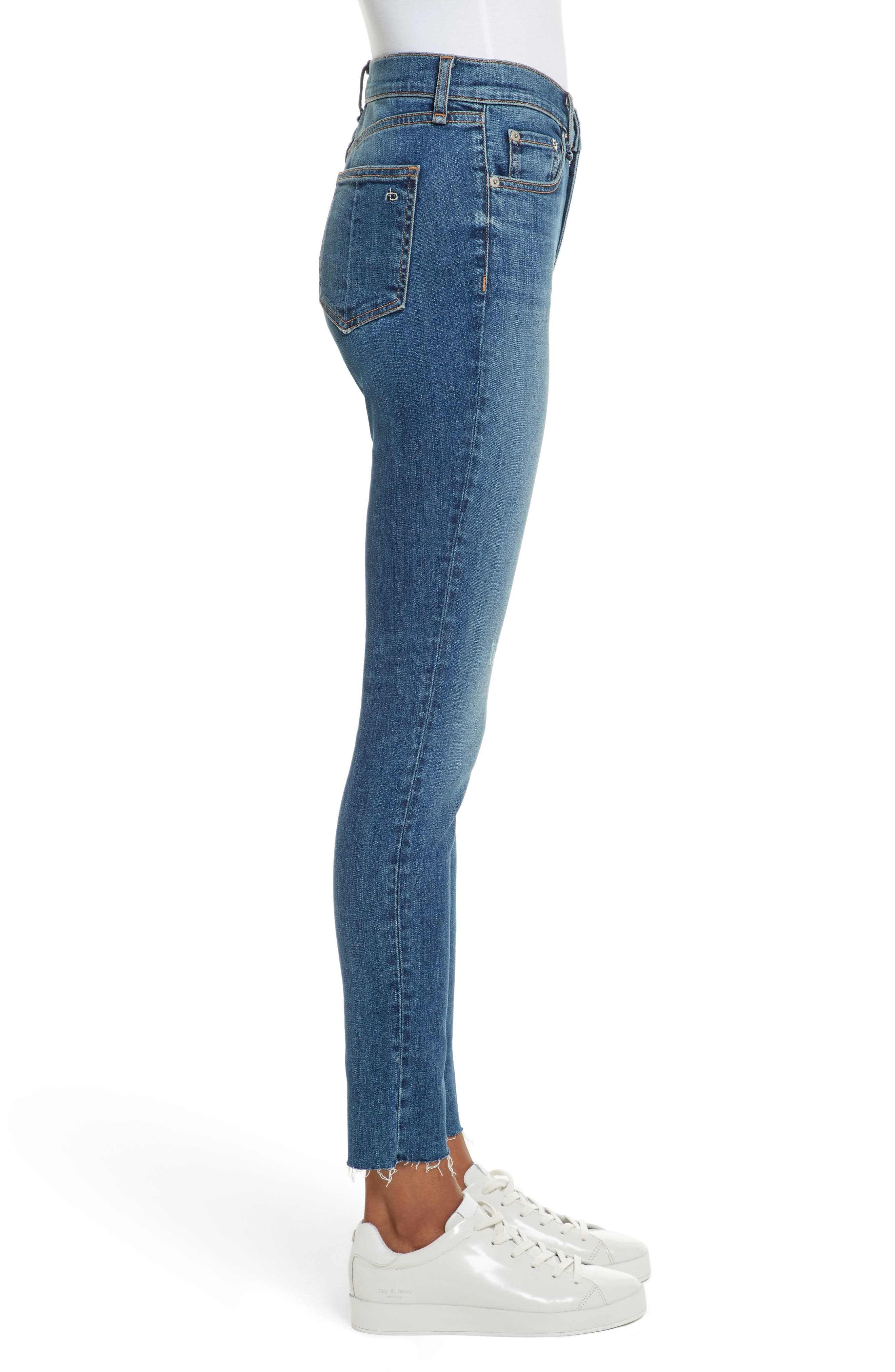 High Waist Skinny Jeans,                             Alternate thumbnail 3, color,                             EL