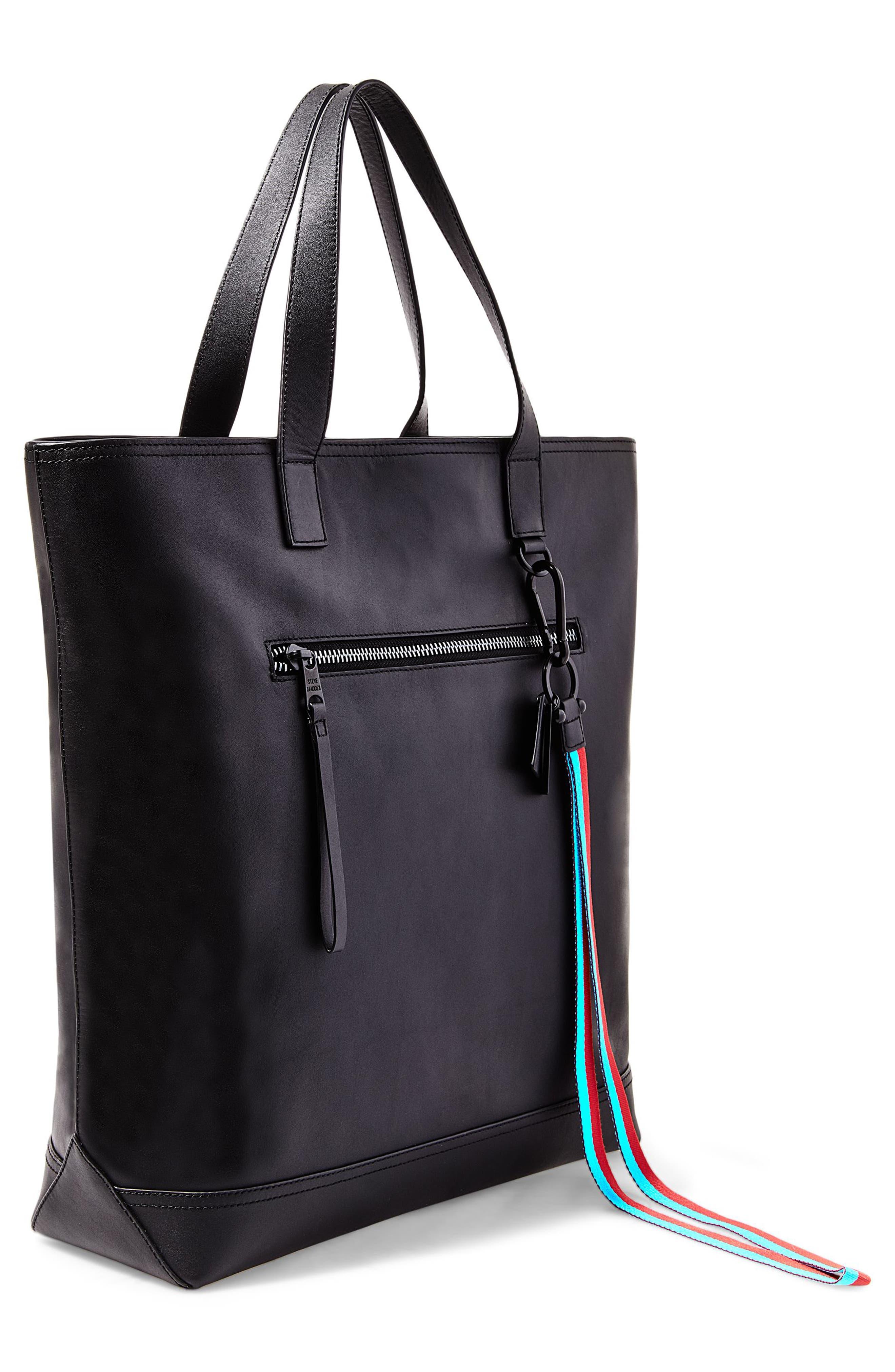 GQ x Steve Madden Leather Tote Bag,                             Alternate thumbnail 2, color,