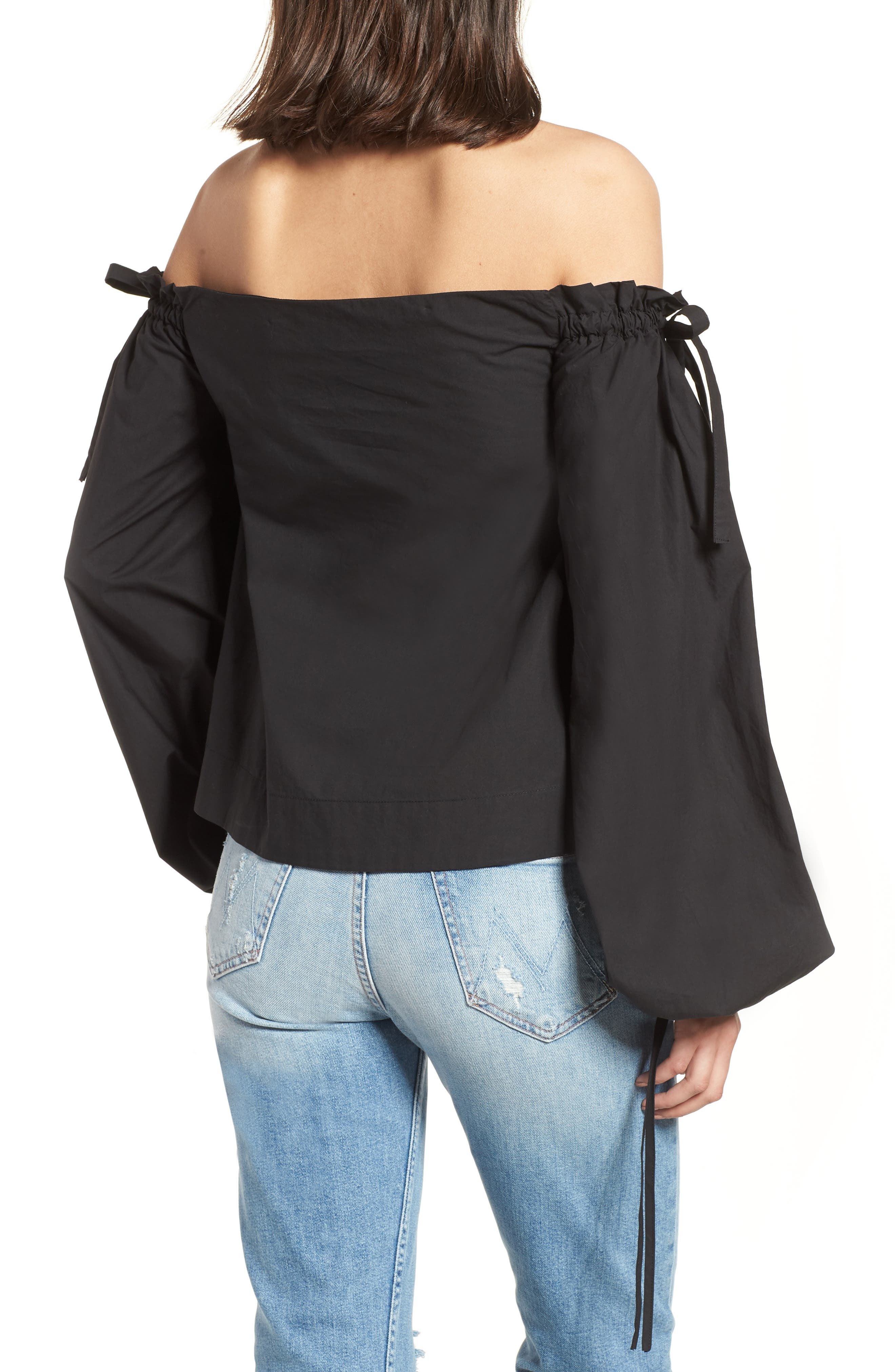 Off the Shoulder Top,                             Alternate thumbnail 3, color,