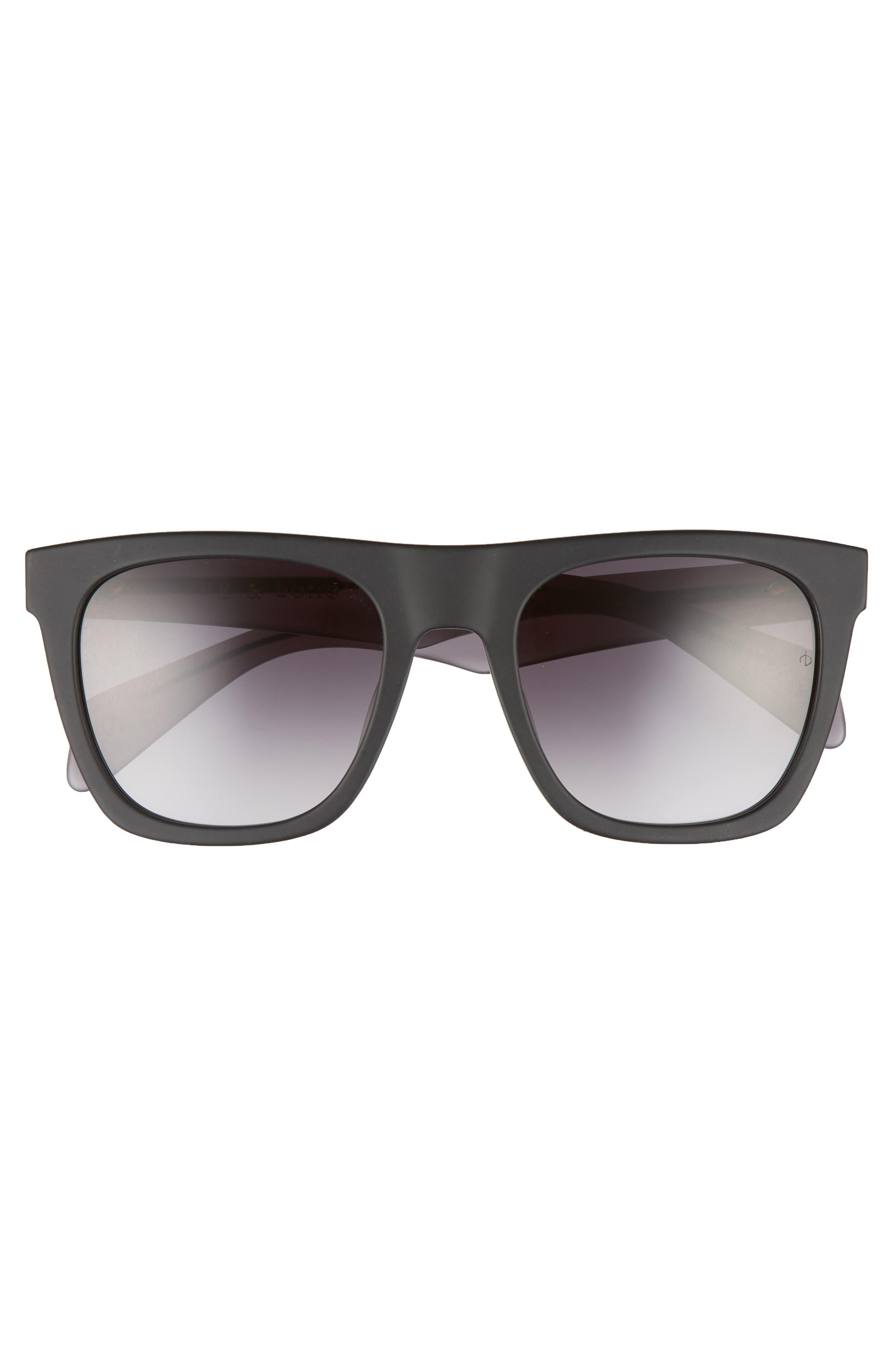 54mm Gradient Sunglasses,                             Alternate thumbnail 2, color,                             BLUE/ DARK GREY